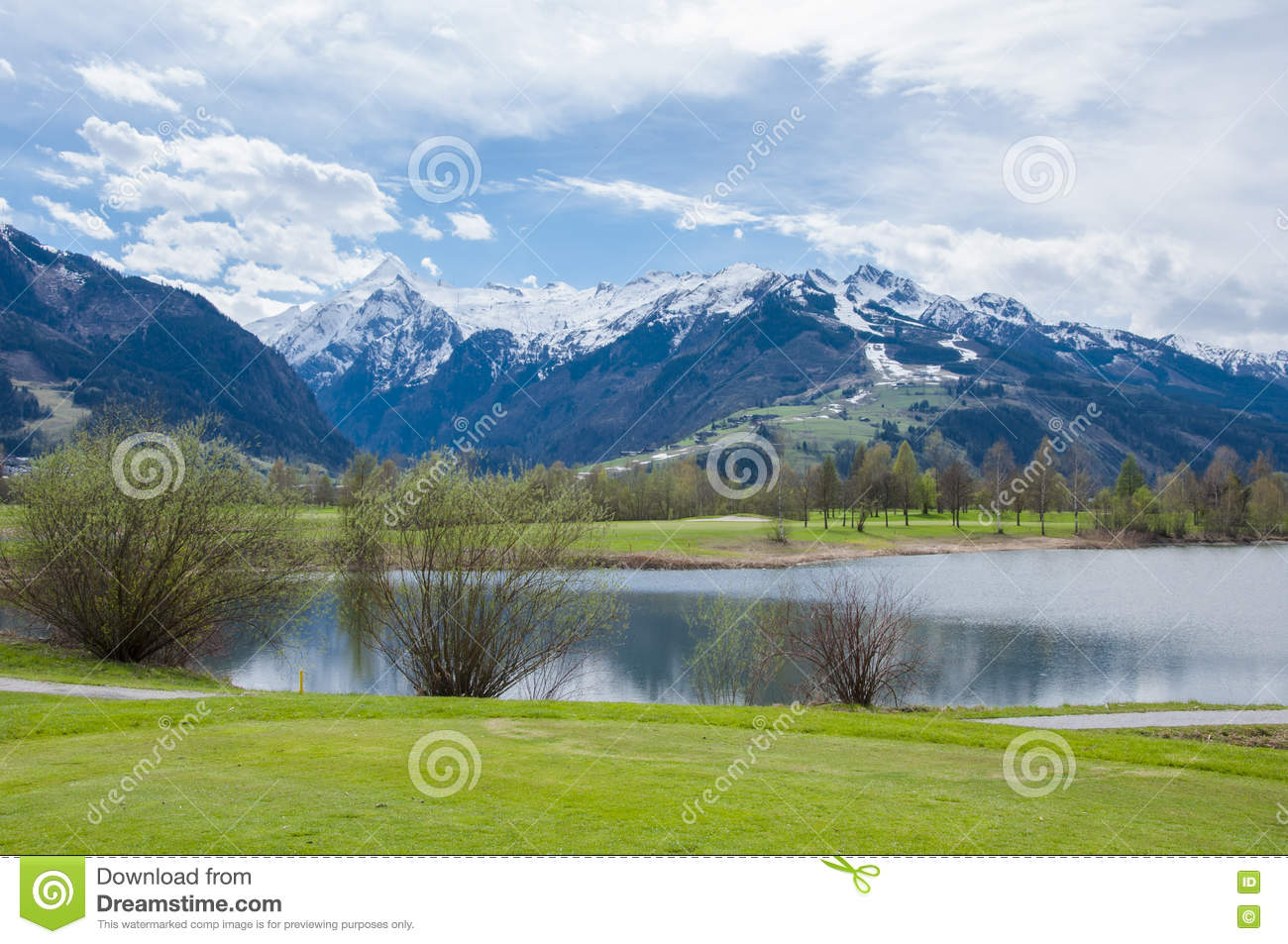 Golf course in mountains