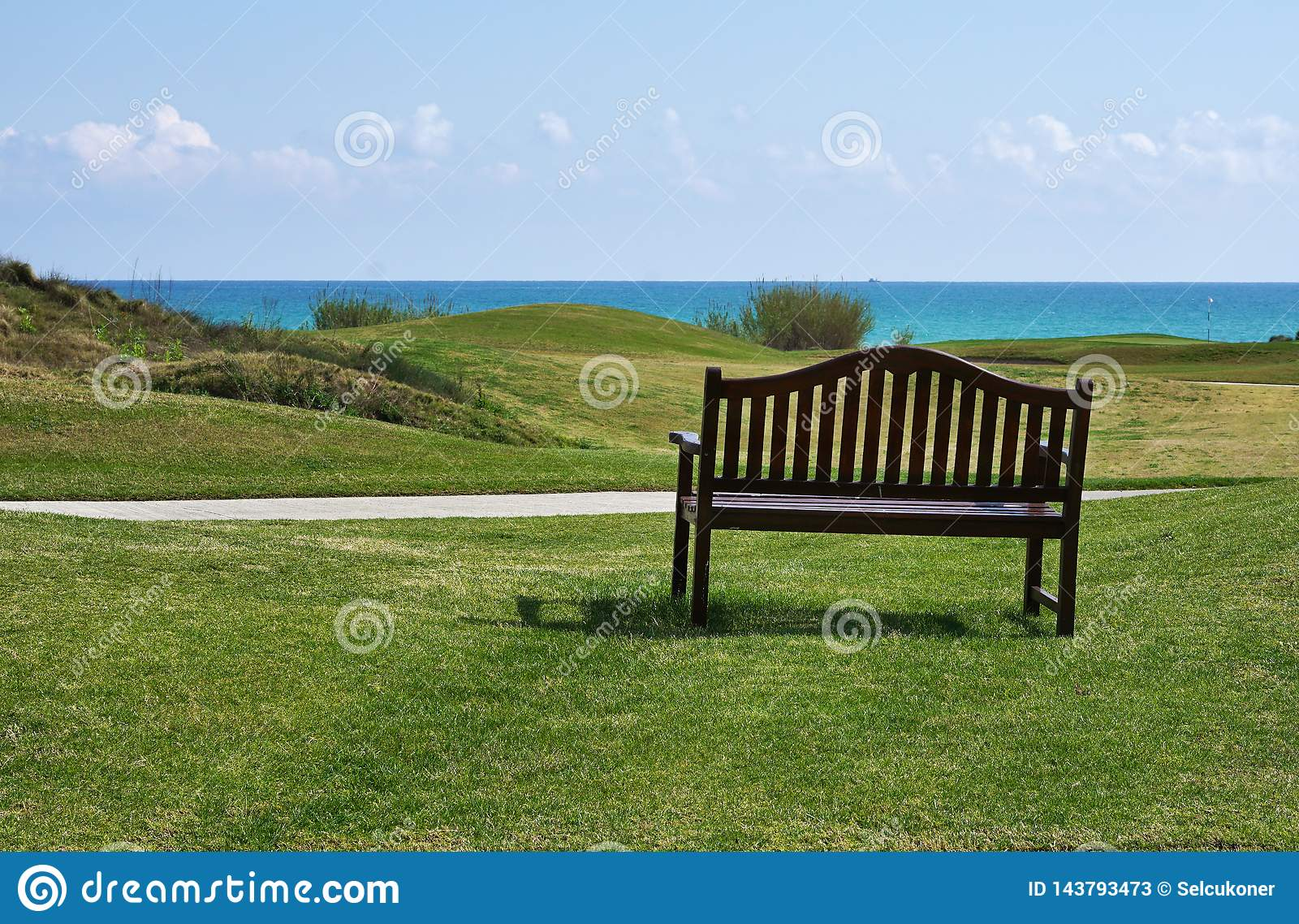 Golf course near beach