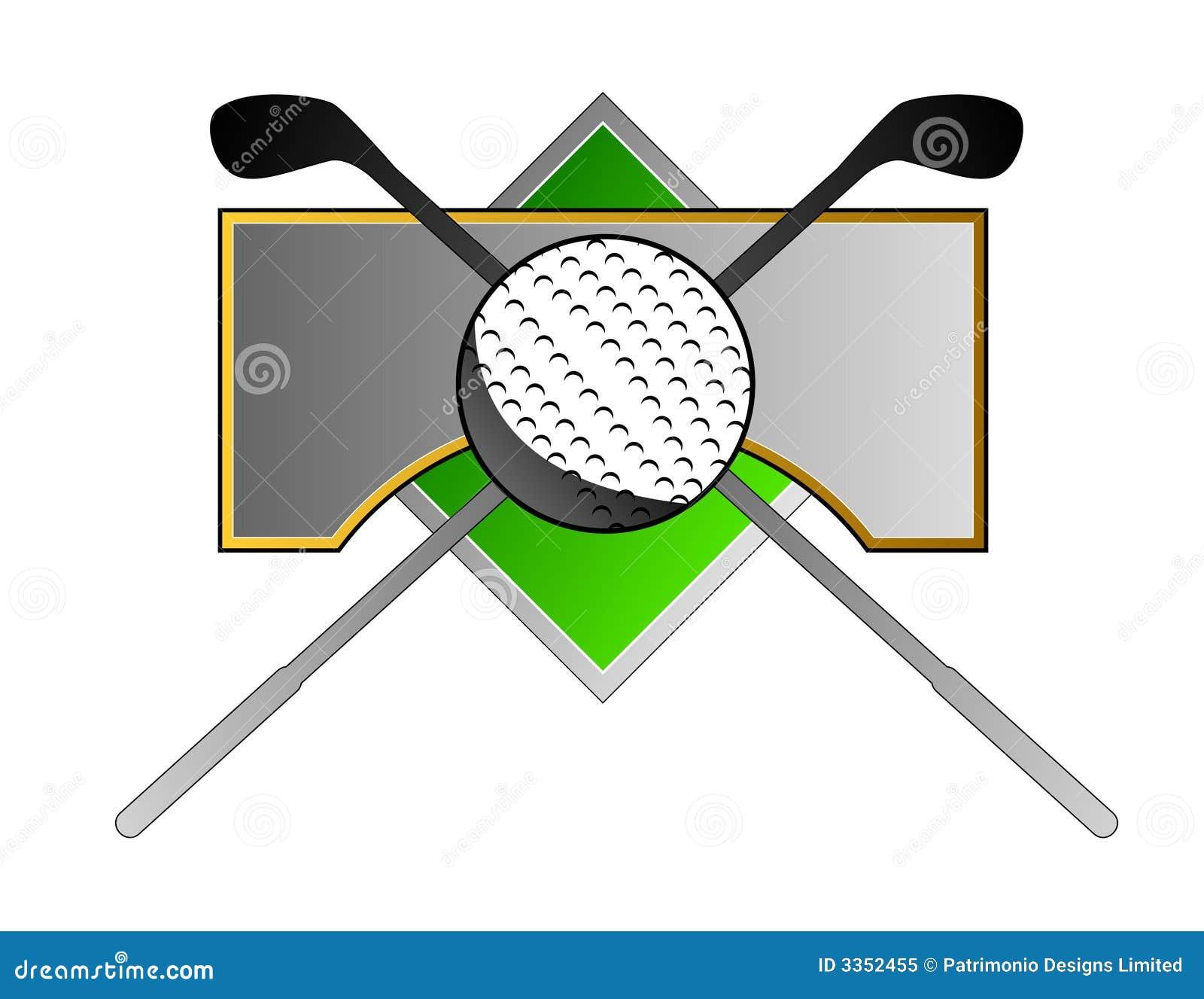 Golf a crista com clube e esfera