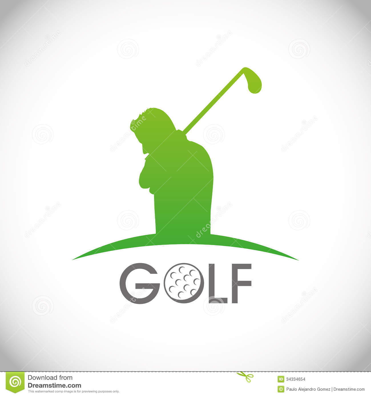 golf design stock vector illustration of champion poster 34334654