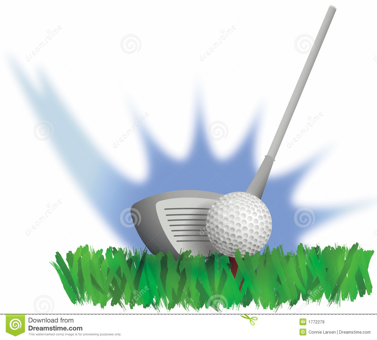 Golf Drive stock illustration. Image of club, activity ... Golf Ball On Tee Clipart