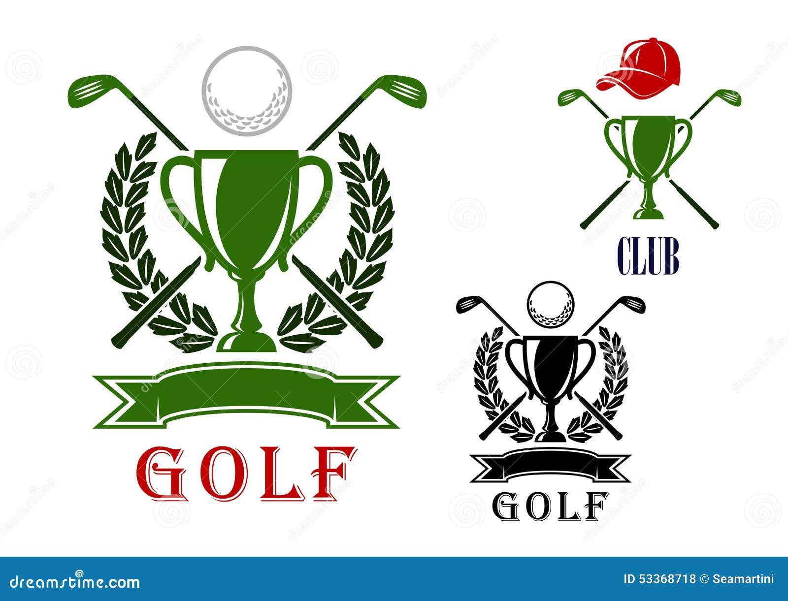golf emblem and badges design templates stock vector