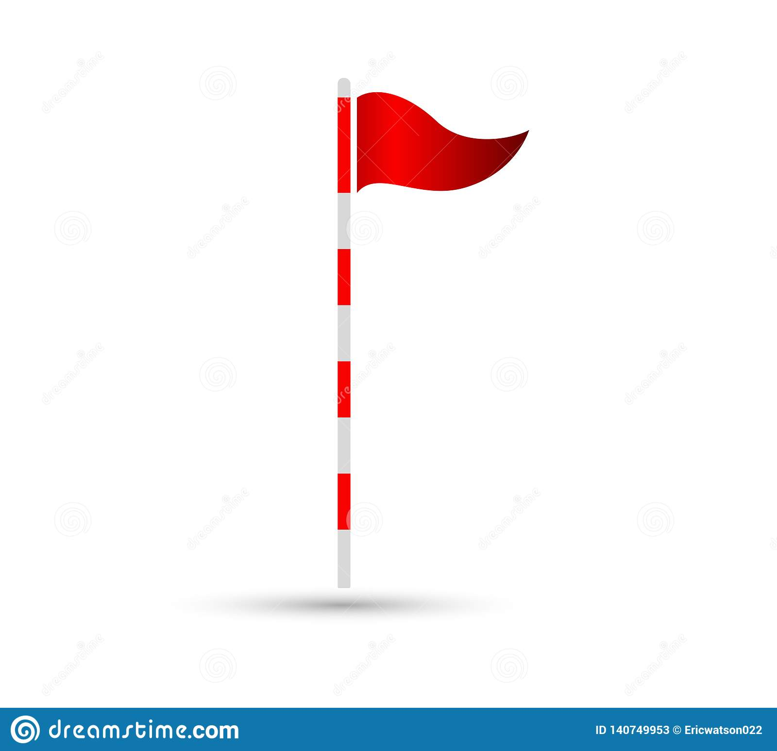 Golf flag vector icon flat sign, easily can be edited.