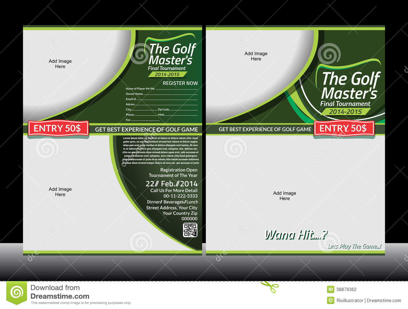 Golf Flyer Template Illustration 38879362 Megapixl