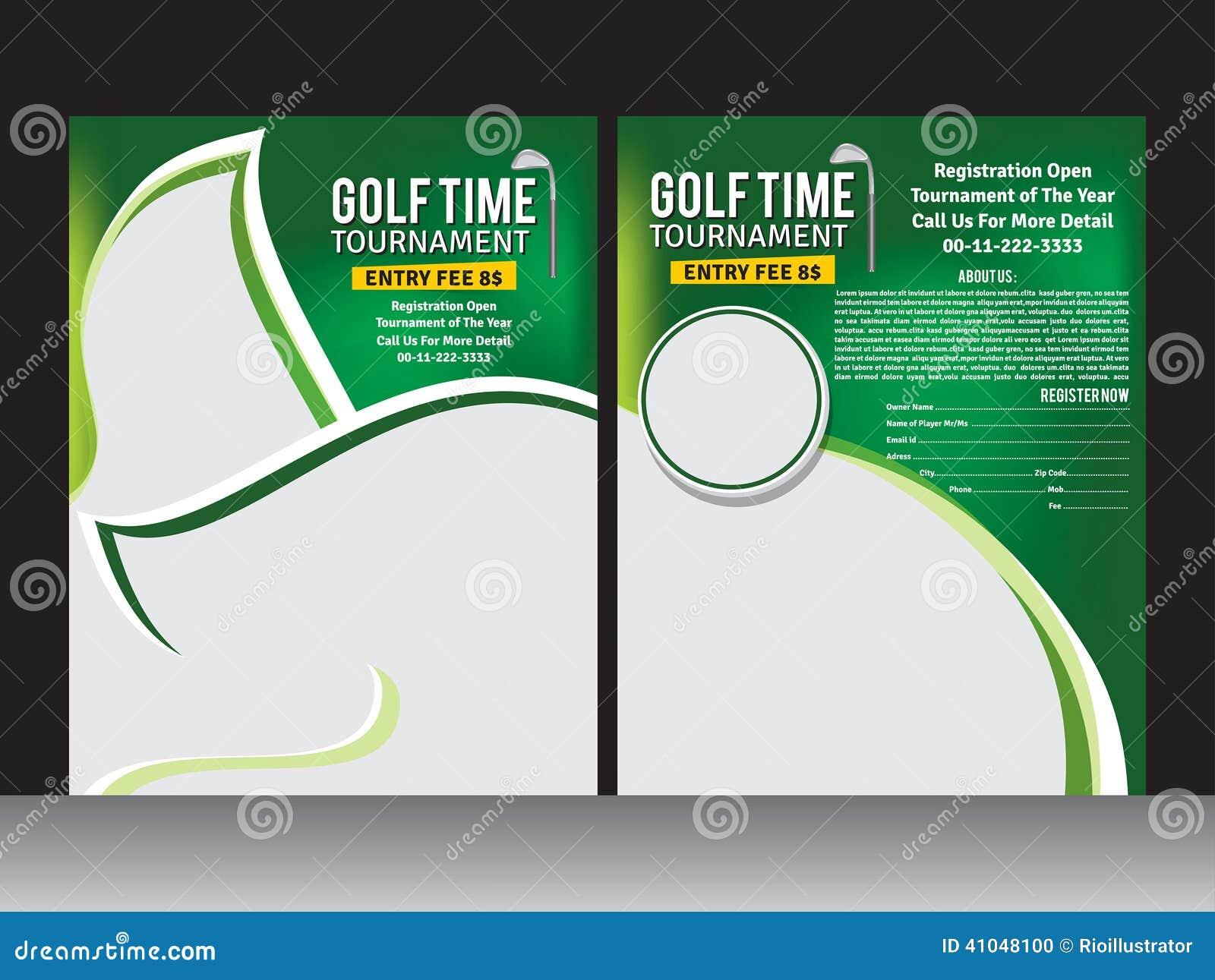 golf flyer template stock vector image 41048100. Black Bedroom Furniture Sets. Home Design Ideas
