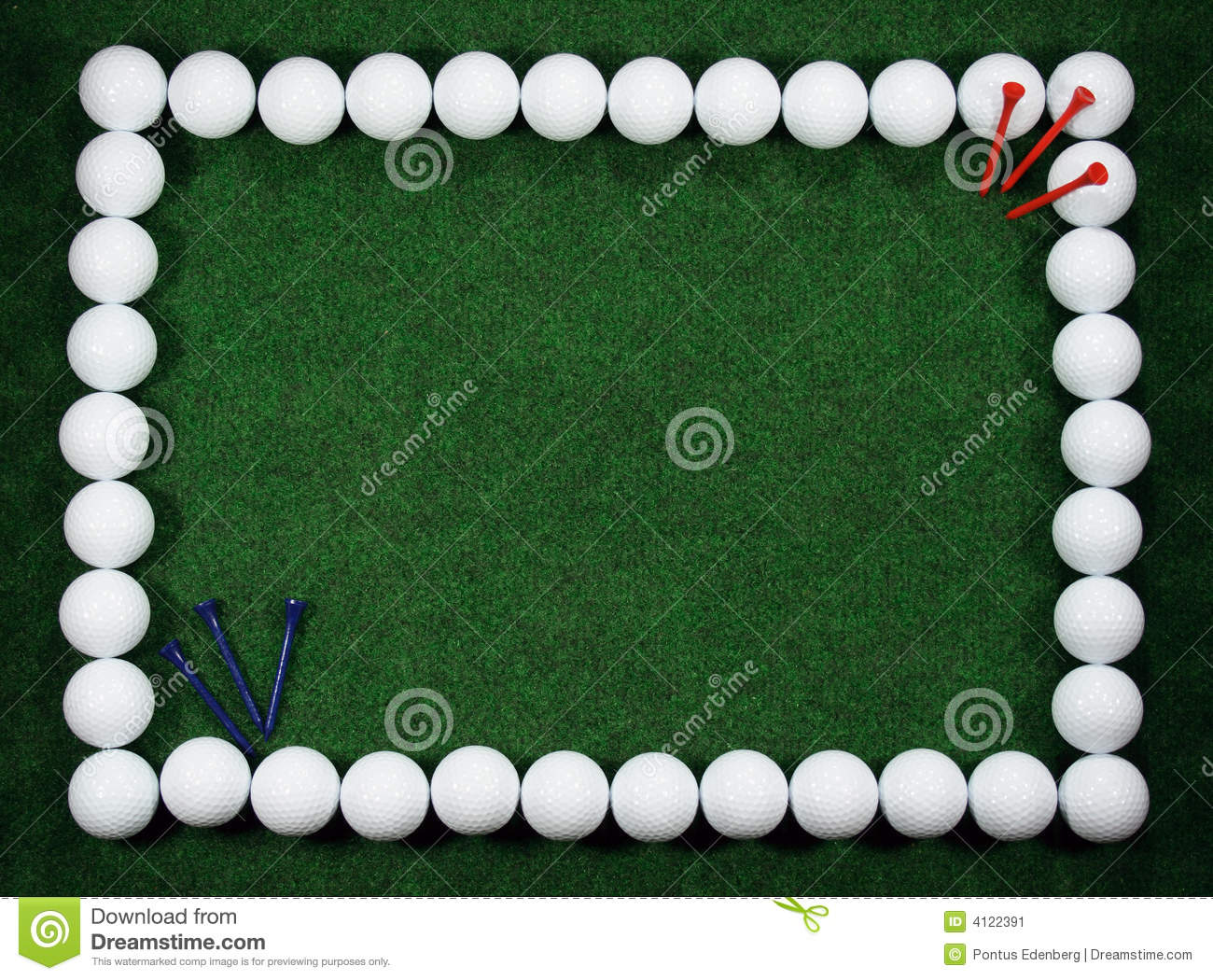 Golf frame with balls and pegs