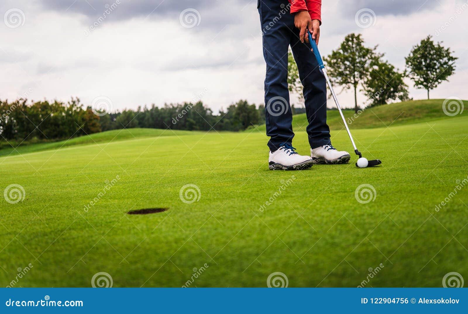 Golf hit on green