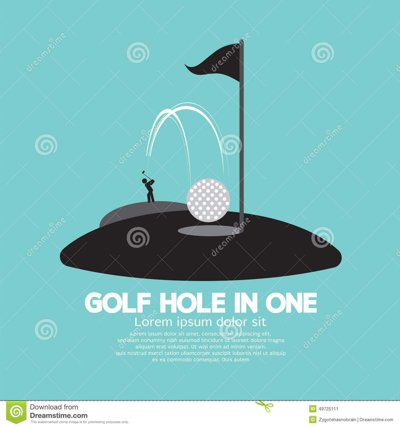 Golf Hole in One Sport Symbol