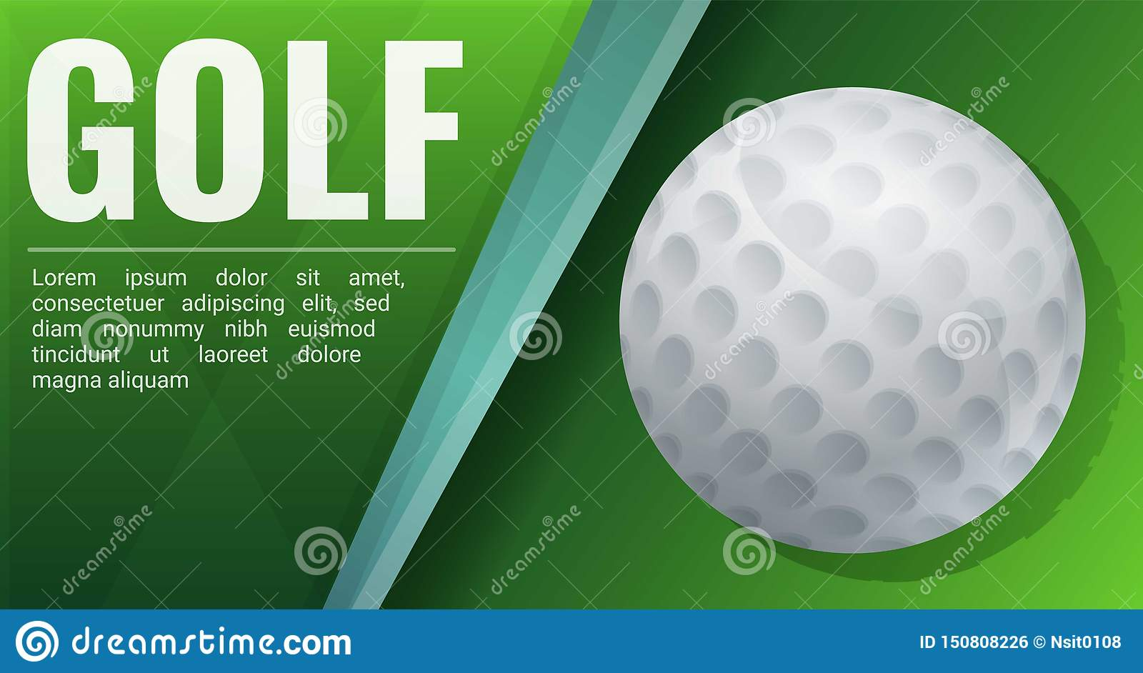 Golf Holiday Cup Concept Banner Cartoon Style Stock Vector Illustration Of Award Logo 150808226