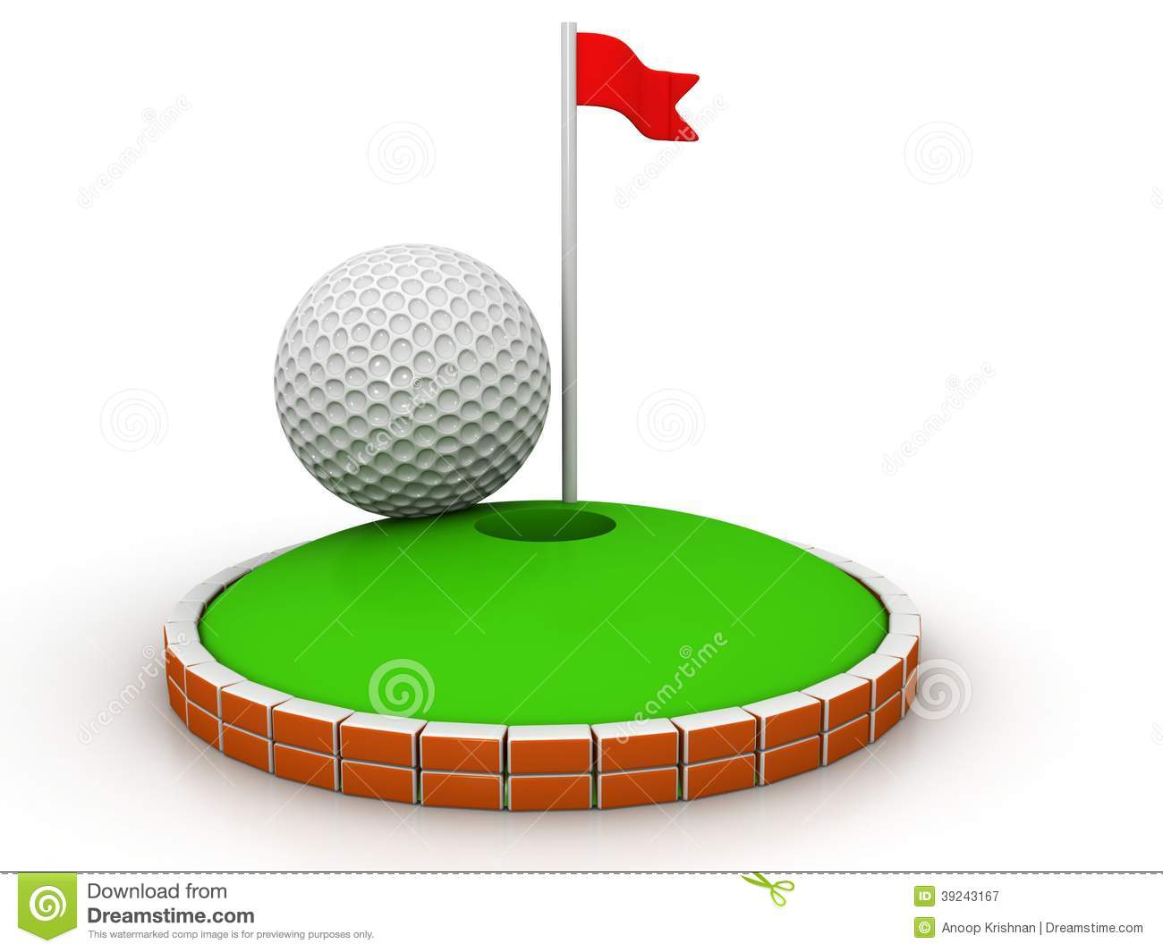 Golf Stock Illustration Of Ball Winner 39243167 Hole Diagram
