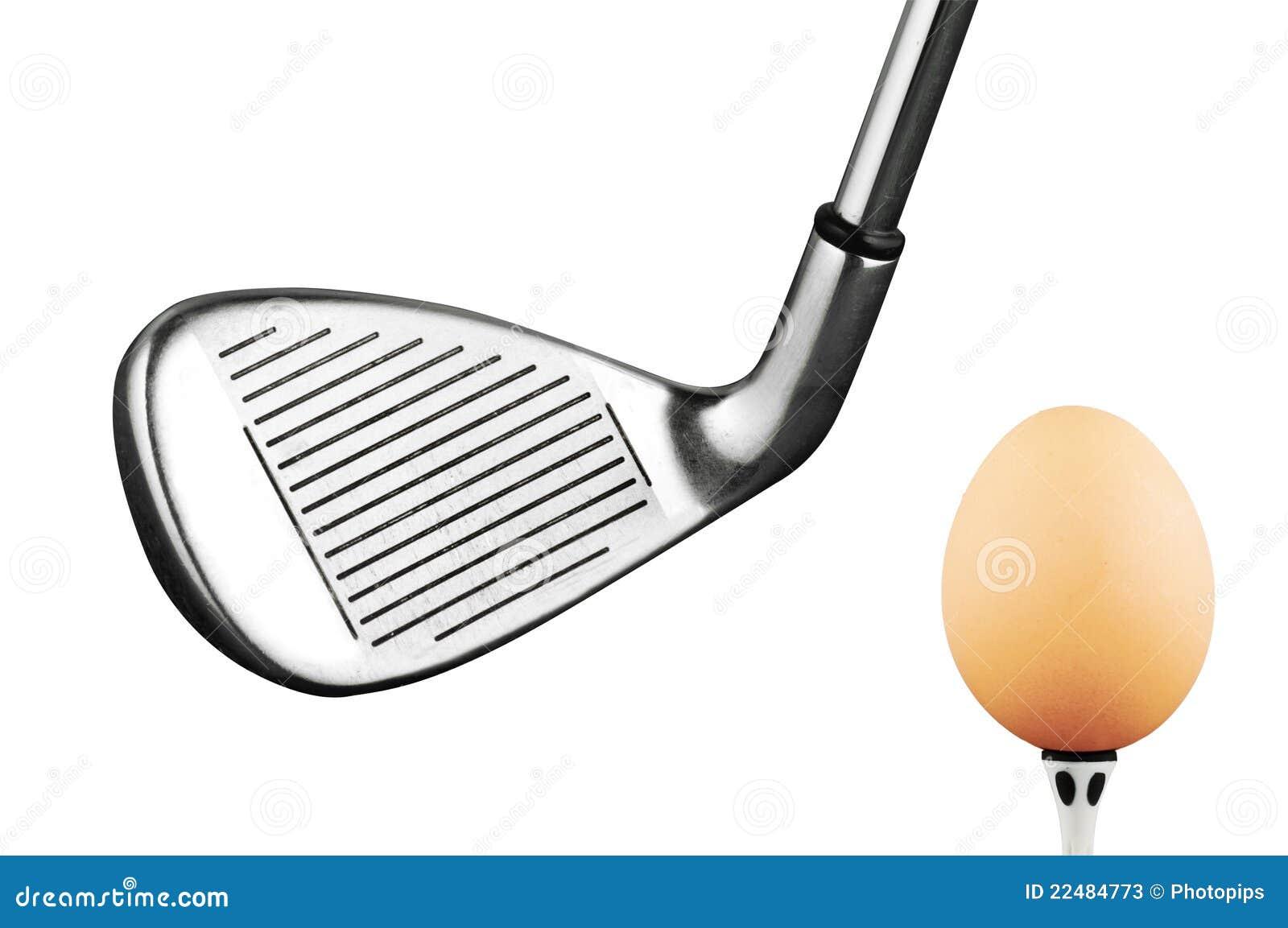 Stock Photos  Golf iron club and eggGolf Club Iron