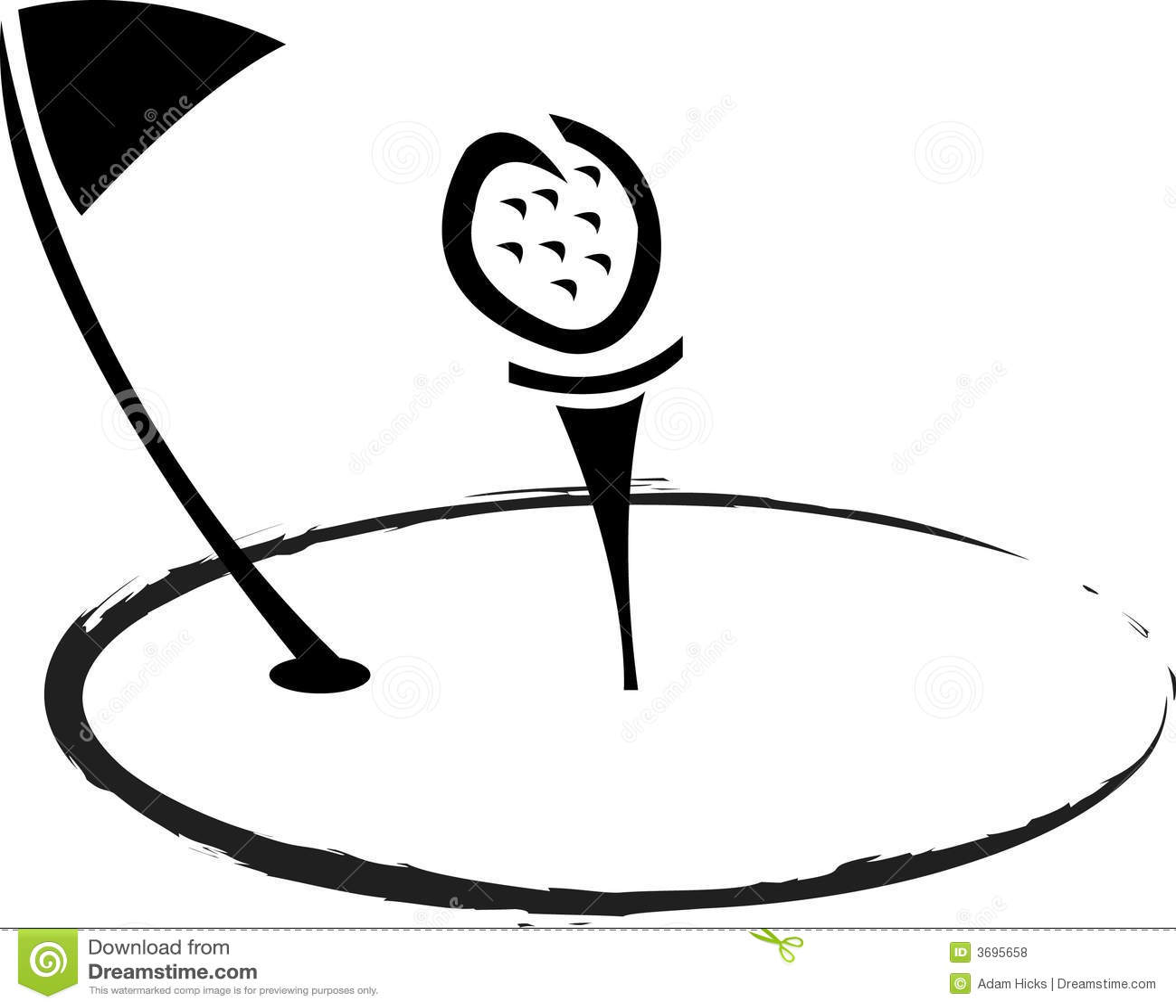 Golf Logo Royalty Free Stock Photos - Image: 3695658