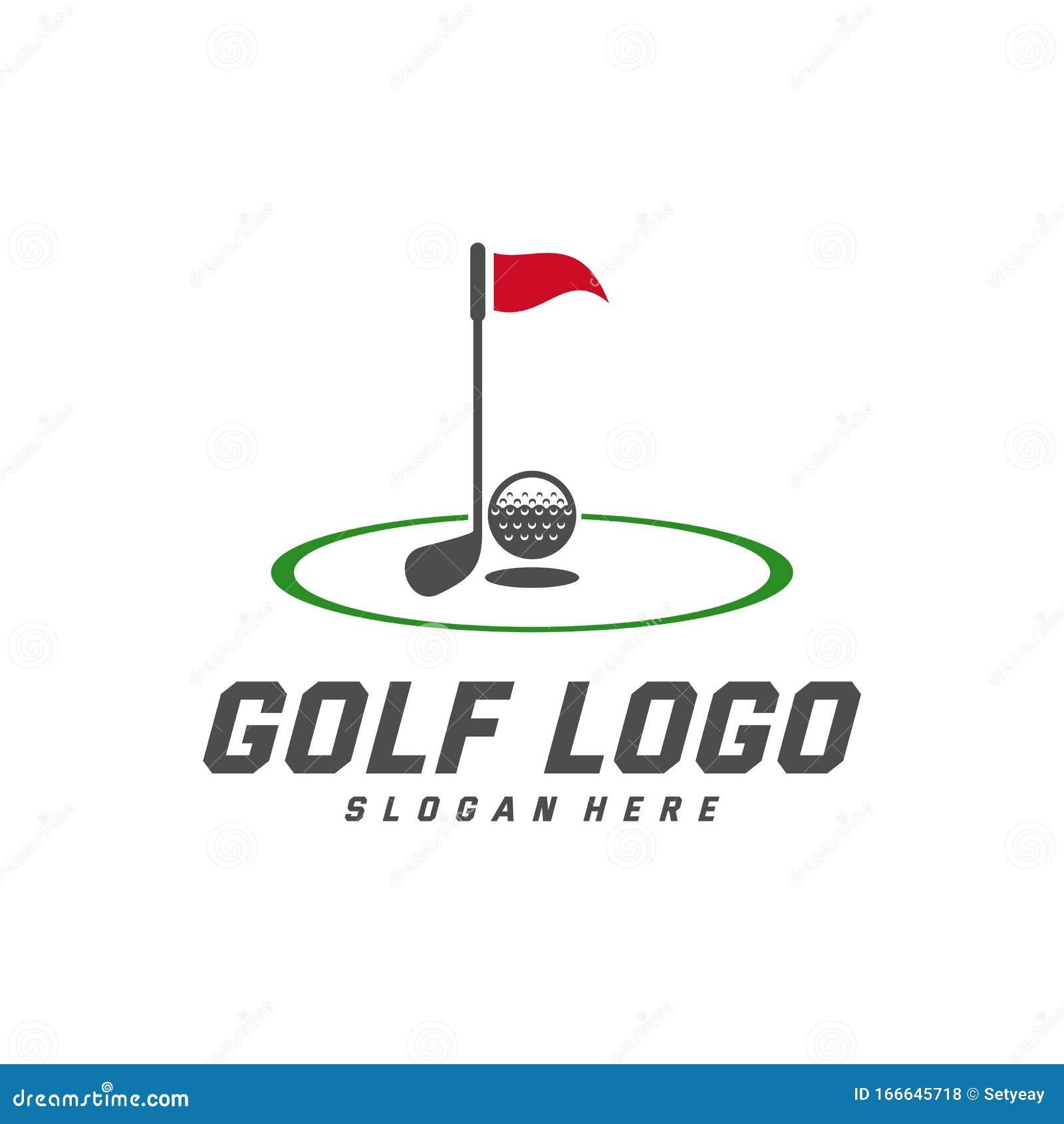 Golf Logo Design Vector Template Vector Label Of Golf Logo Of Golf Championship Illustration Creative Icon Design Concept Stock Vector Illustration Of Label Ball 166645718