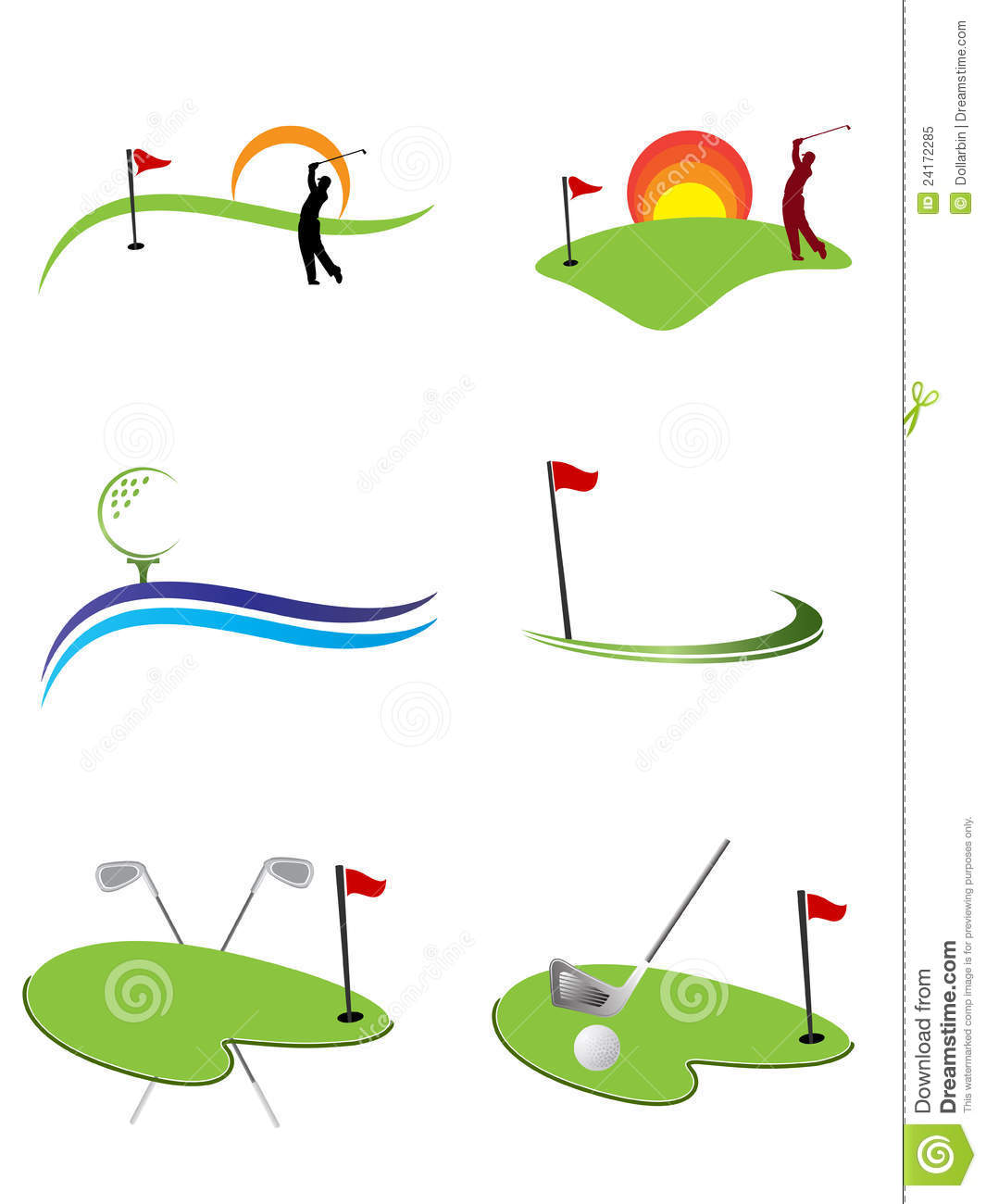 Golf Logos Royalty Free Stock Photo - Image: 24172285