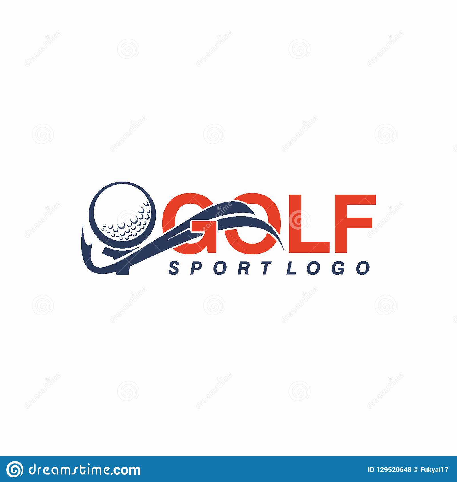 Golf o deporte Logo Design Concept del club