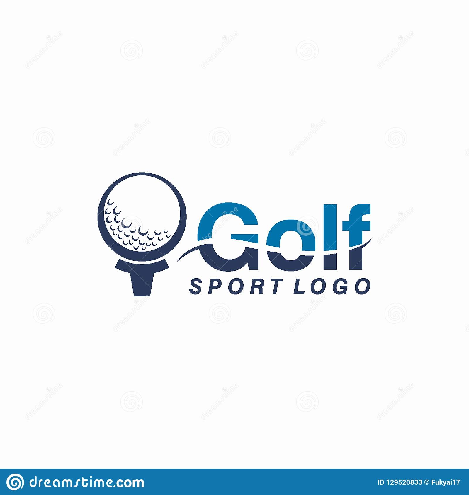 Golf o deporte Logo Design Concept del club