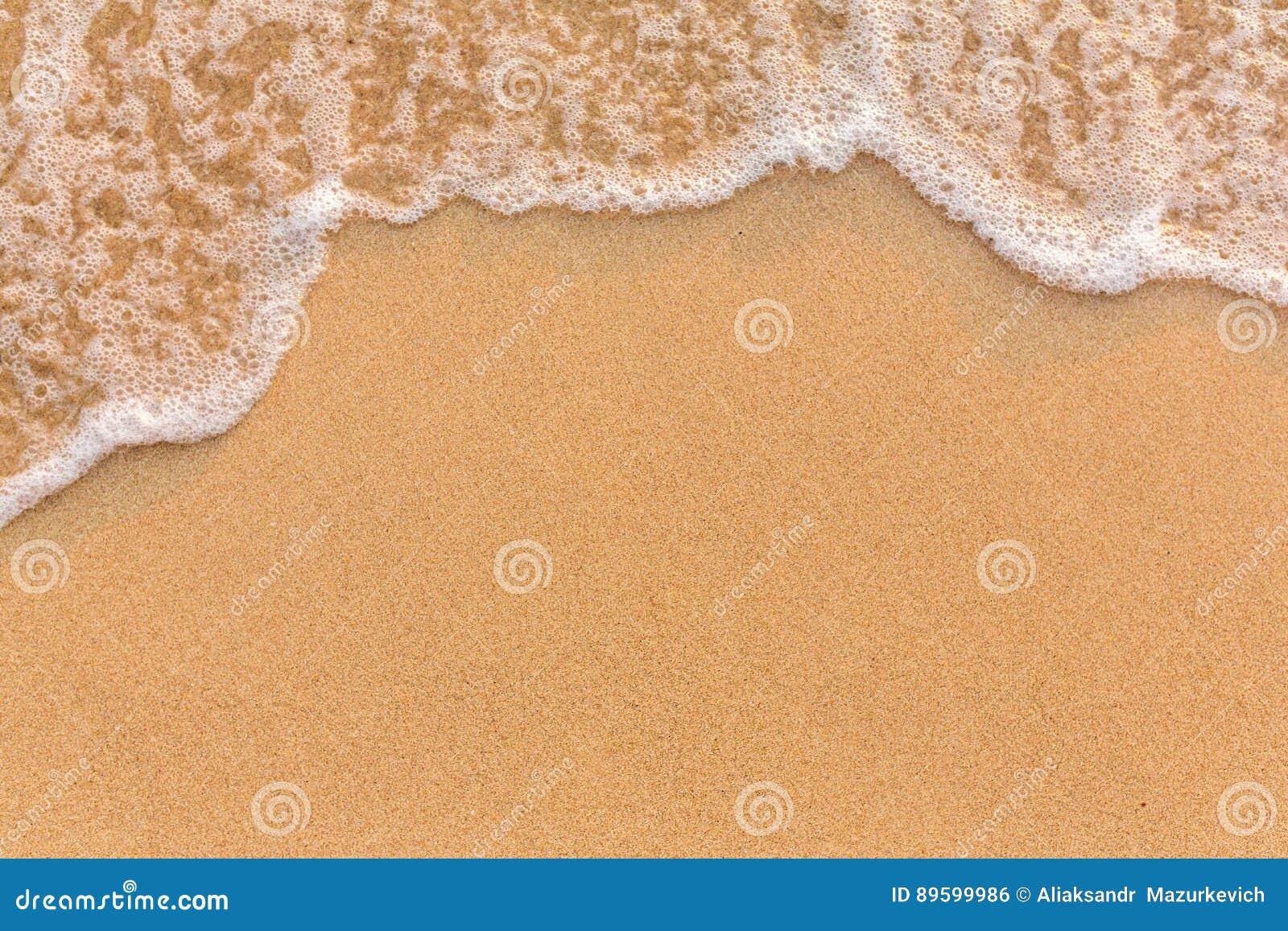 Golf op het zandstrand