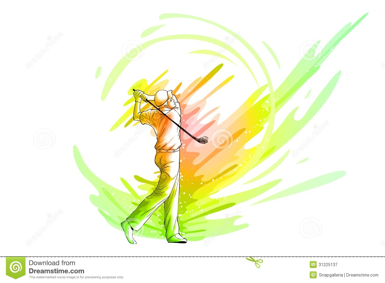 Golf Player Royalty Free Stock Photography - Image: 31225137 Golf Ball On Tee Clipart