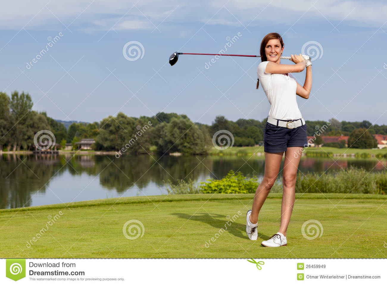 Golf Player Teeing Off Royalty Free Stock Images - Image ... Golf Ball On Tee Clipart