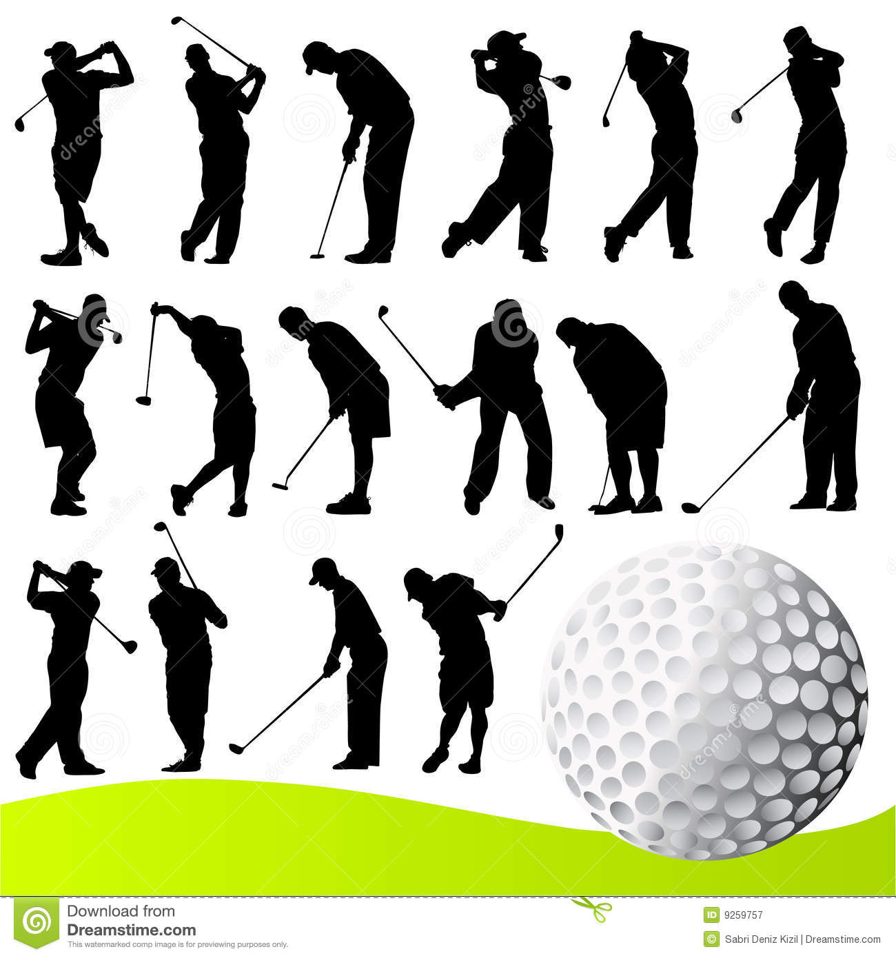 golf player vector royalty free stock photography image golfer clip art free gopher clipart