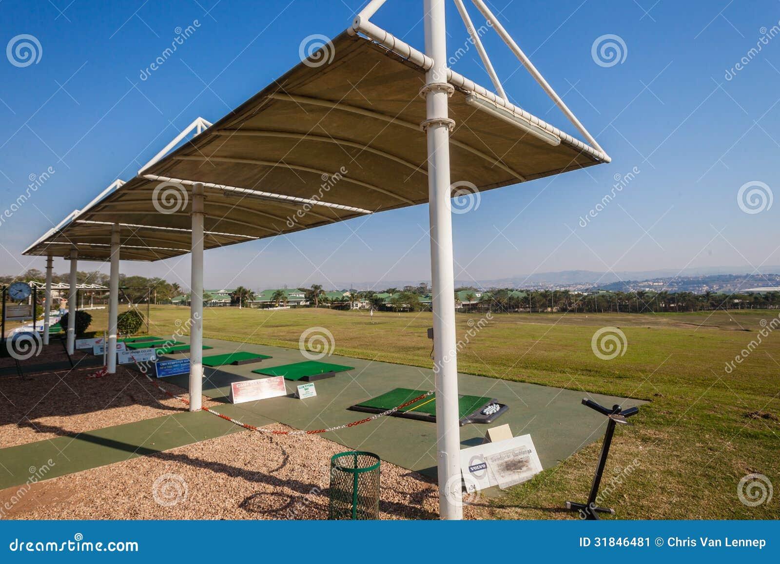 Golf Practice Range Sun Protection Editorial Photo Image Of Balls