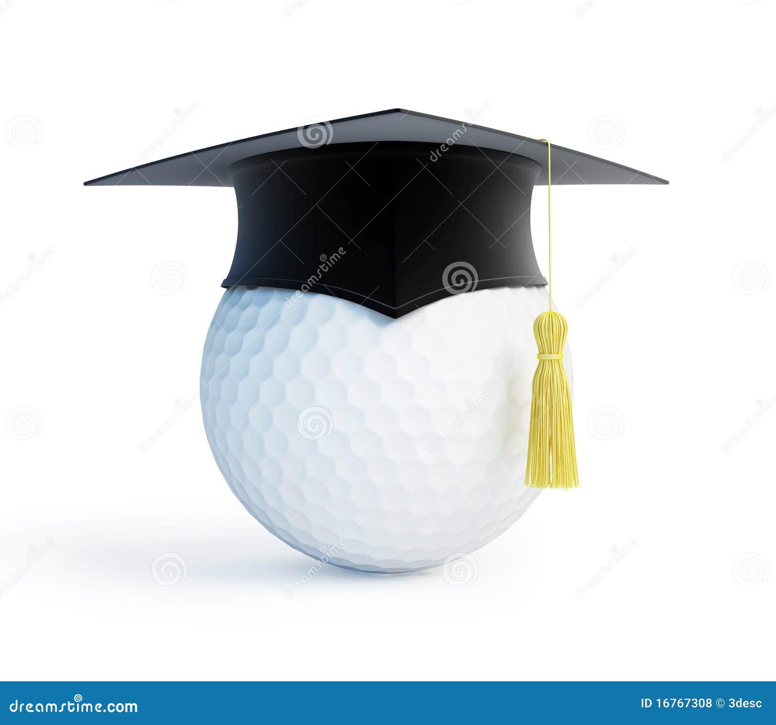 Golf school graduation cap