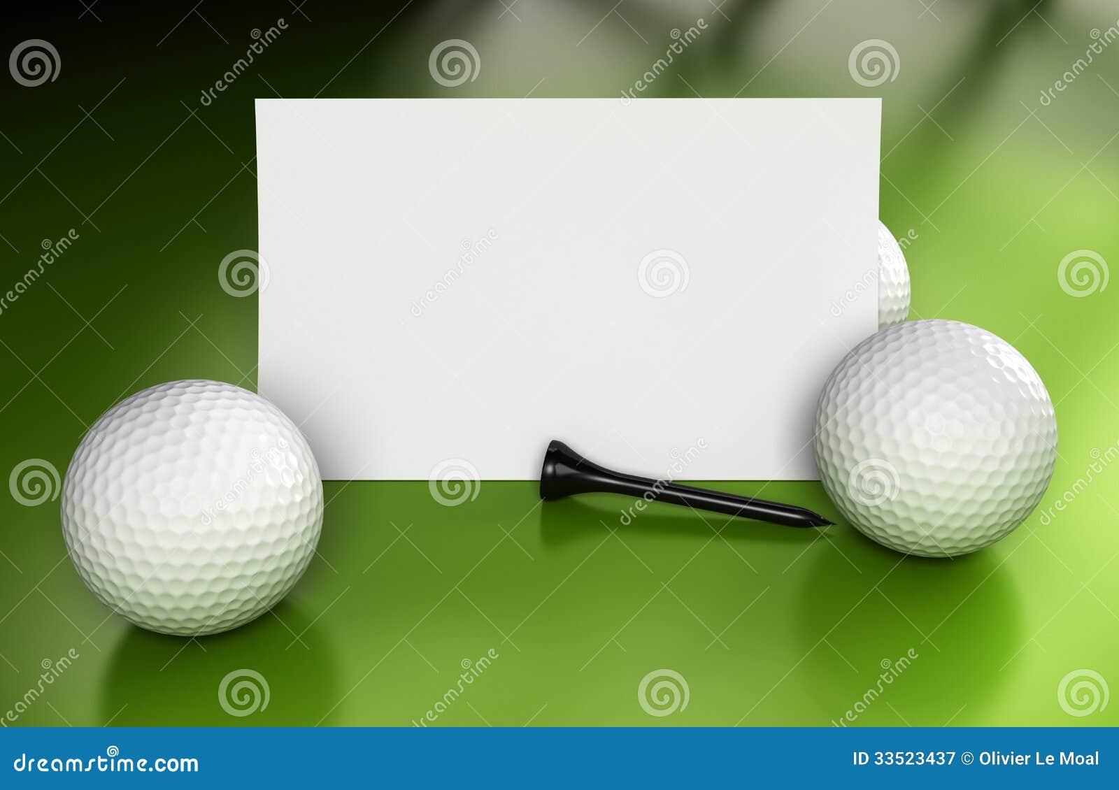 golf sign  communication over green stock illustration