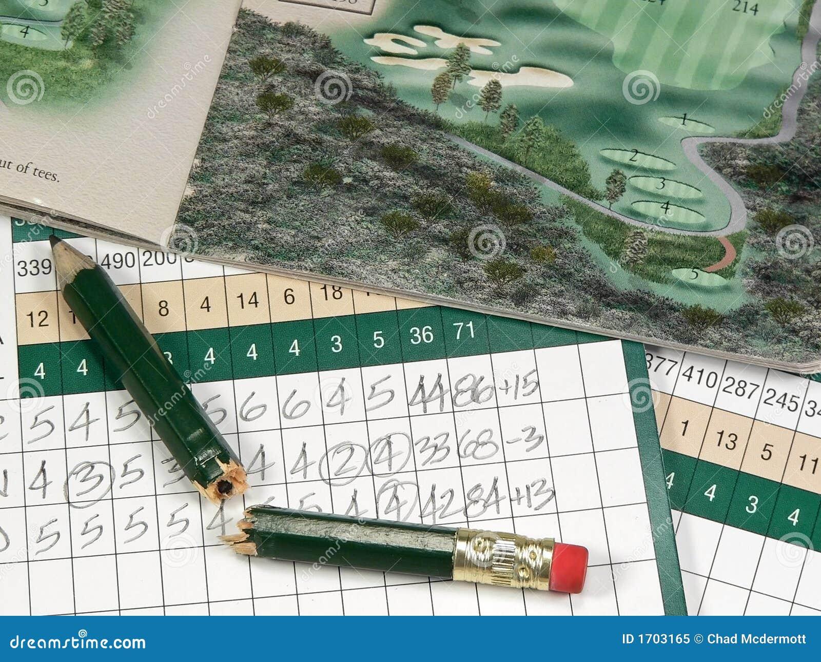 Golf-Spielstandskarten