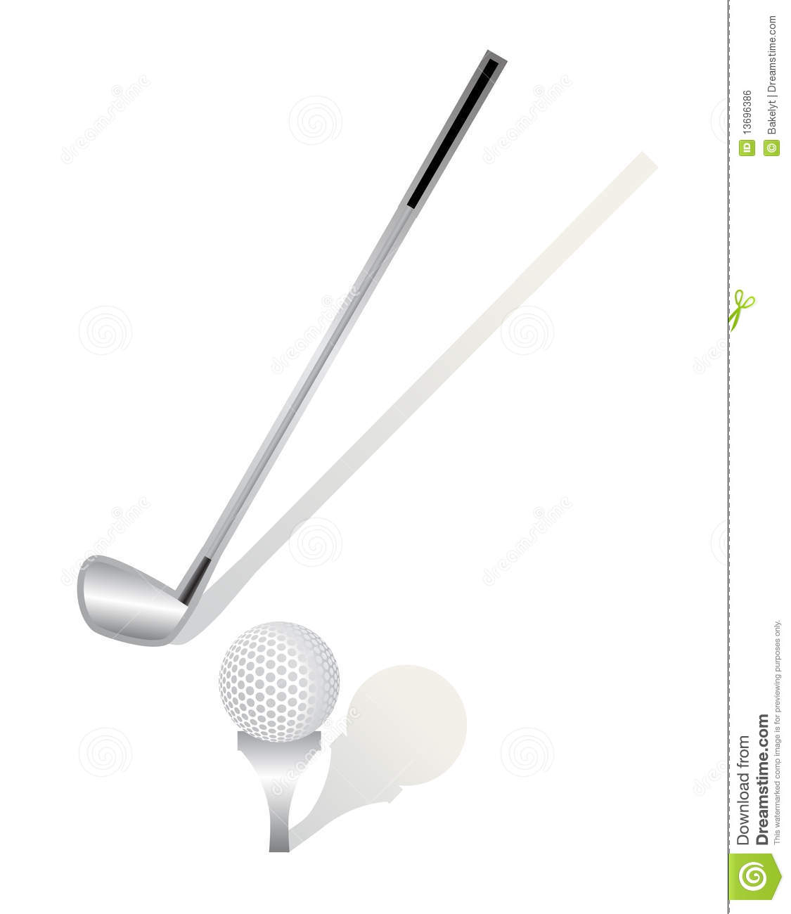Golf Stick And Ball Royalty Free Stock Image - Image: 13696386