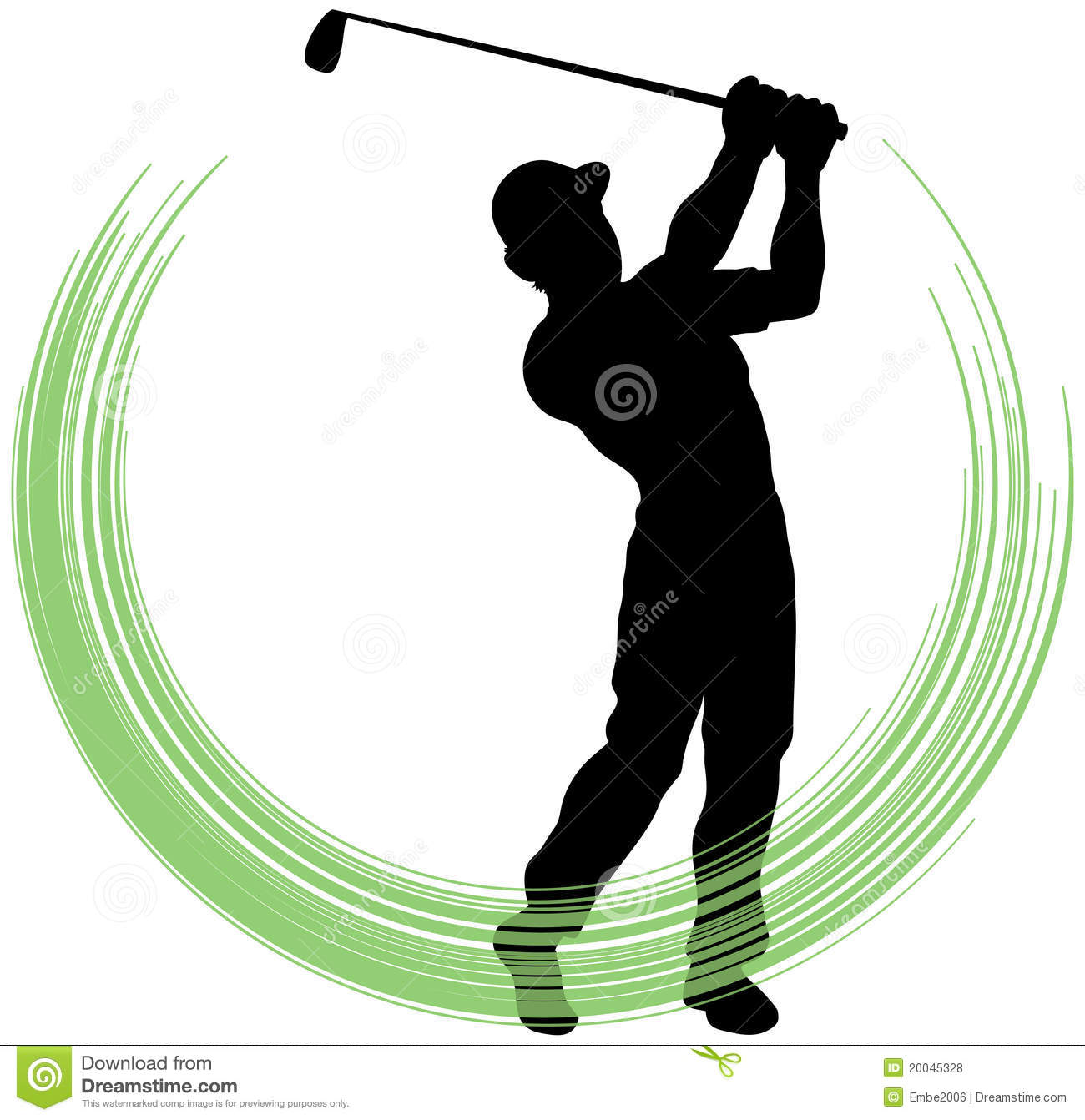 Golf Swing Royalty Free Stock Photos - Image: 20045328 Golf Ball On Tee Clipart