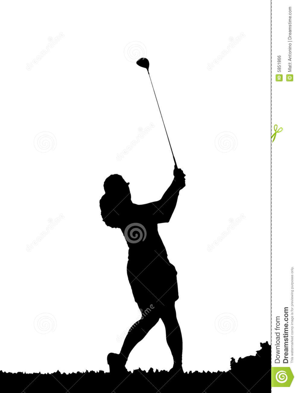 Golf Swing Silhouette Stock Illustration Illustration Of Player