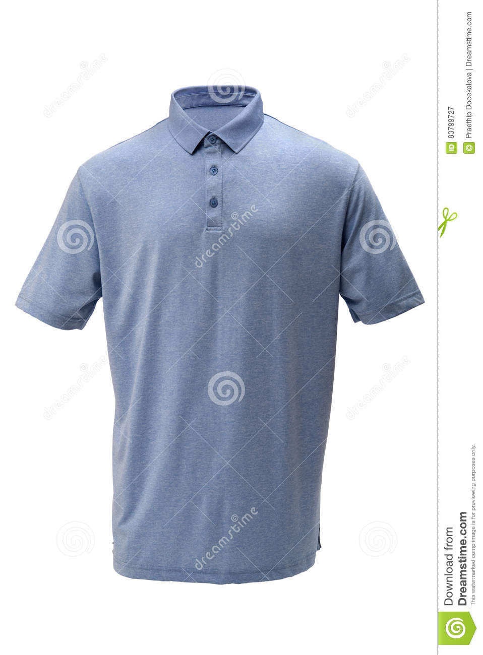Golf tee shirt light blue color for man or woman