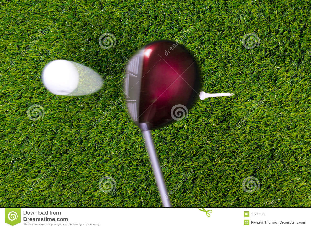 Golf Tee Shot With Driver Stock Photo Image Of Action