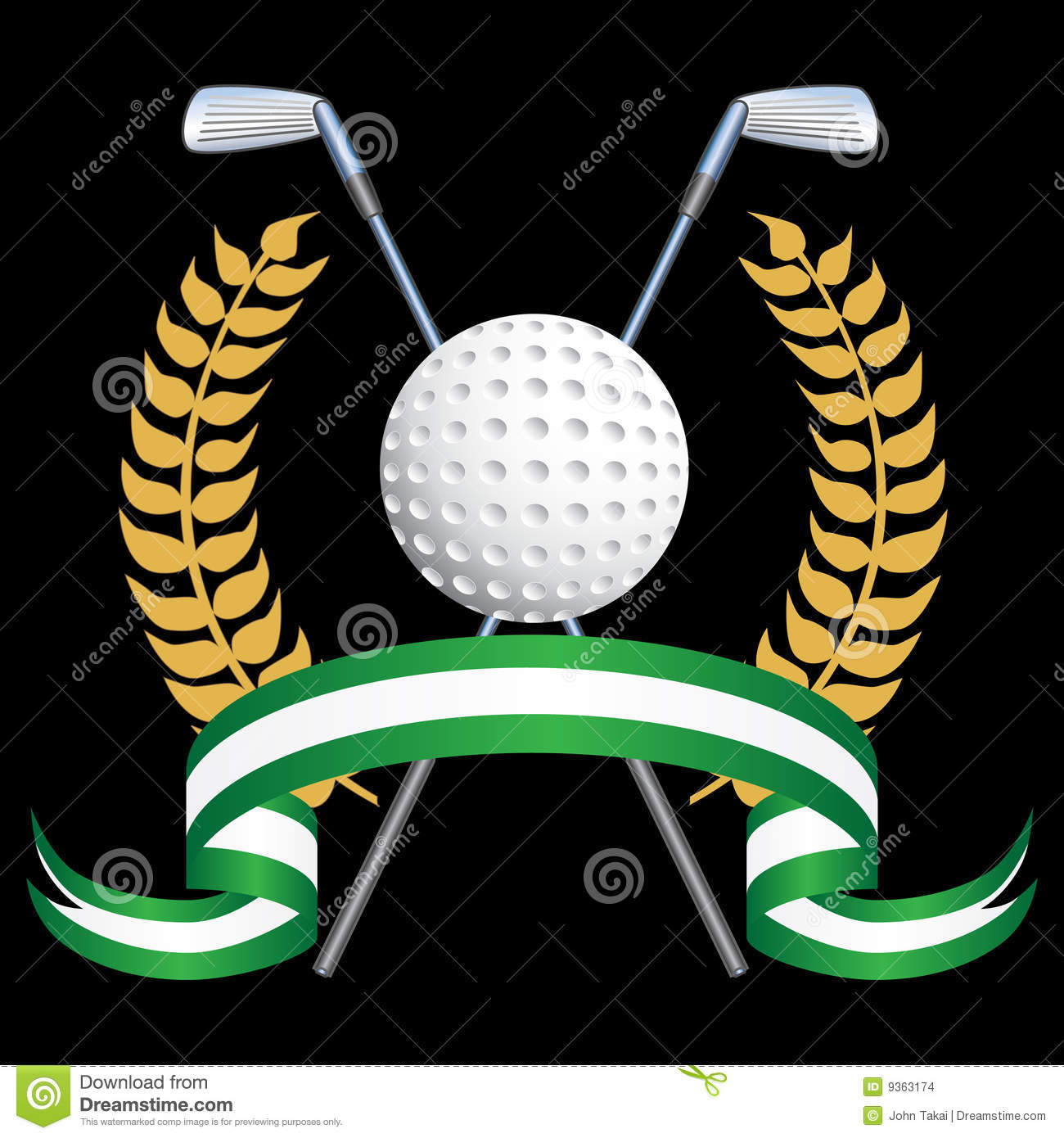 Golf Themed Background Stock Images Image 9363174