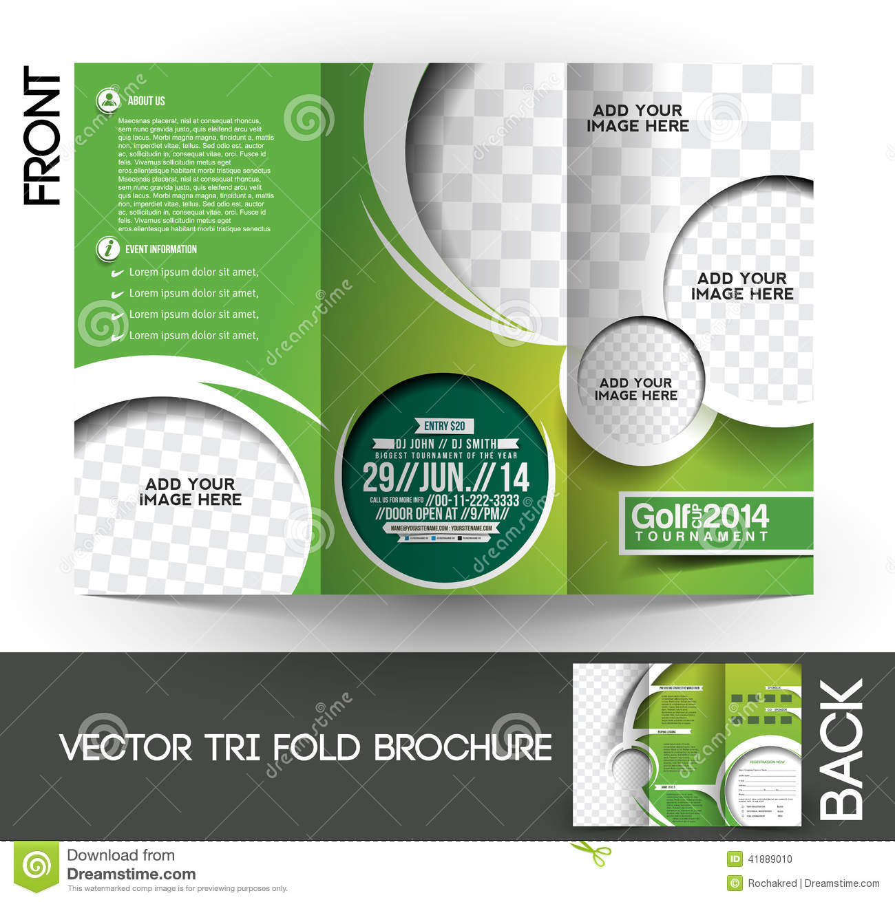 Golf Tournament Brochure Stock Vector Illustration Of Competition