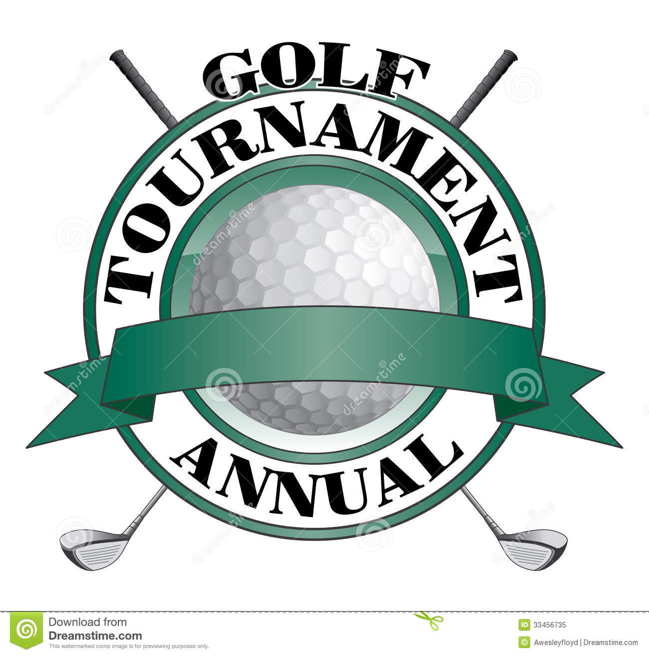 Golf Tournament Design stock vector. Illustration of game ... Golf Ball And Club Clipart