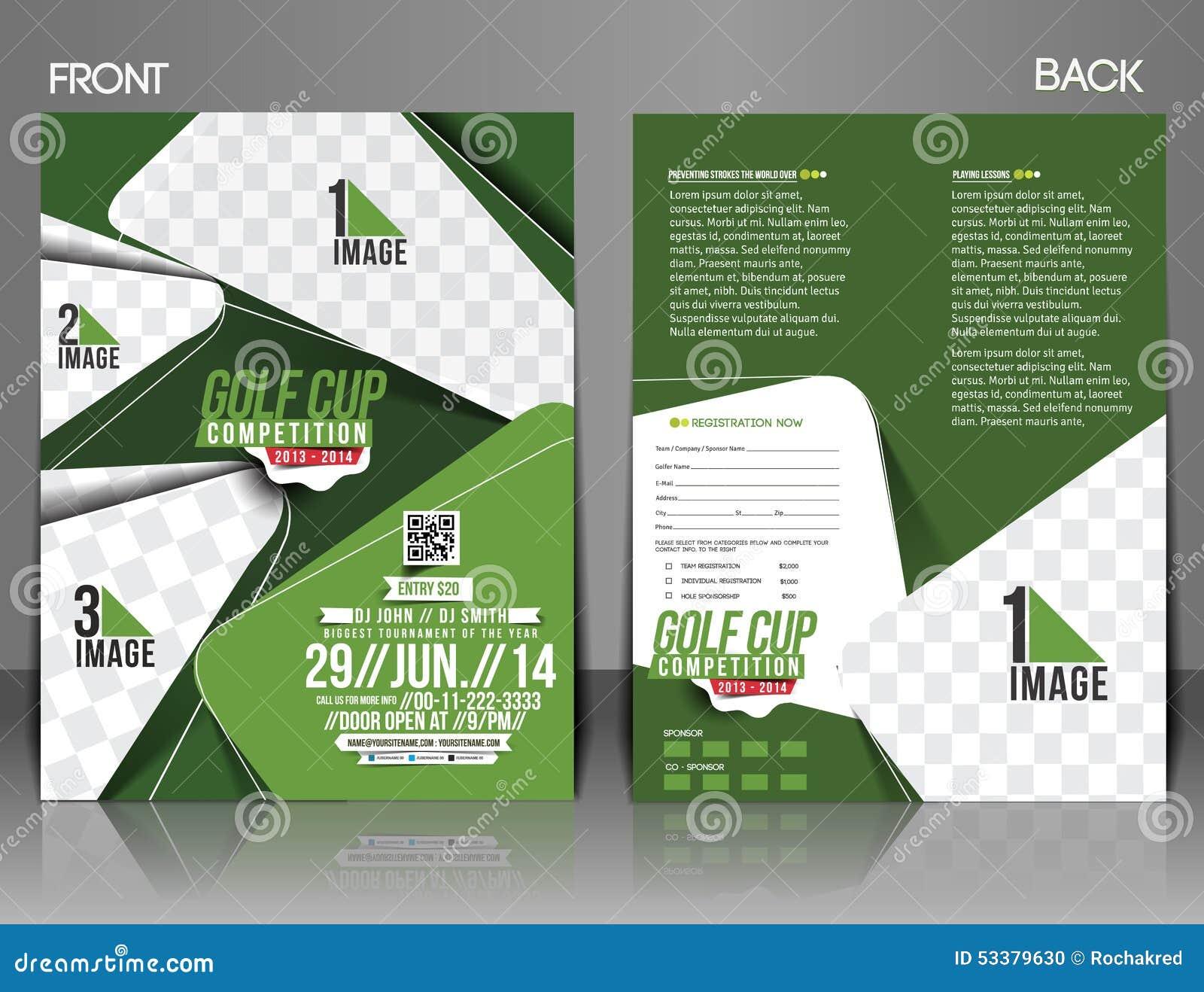 golf tournament flyer stock vector illustration of decoration
