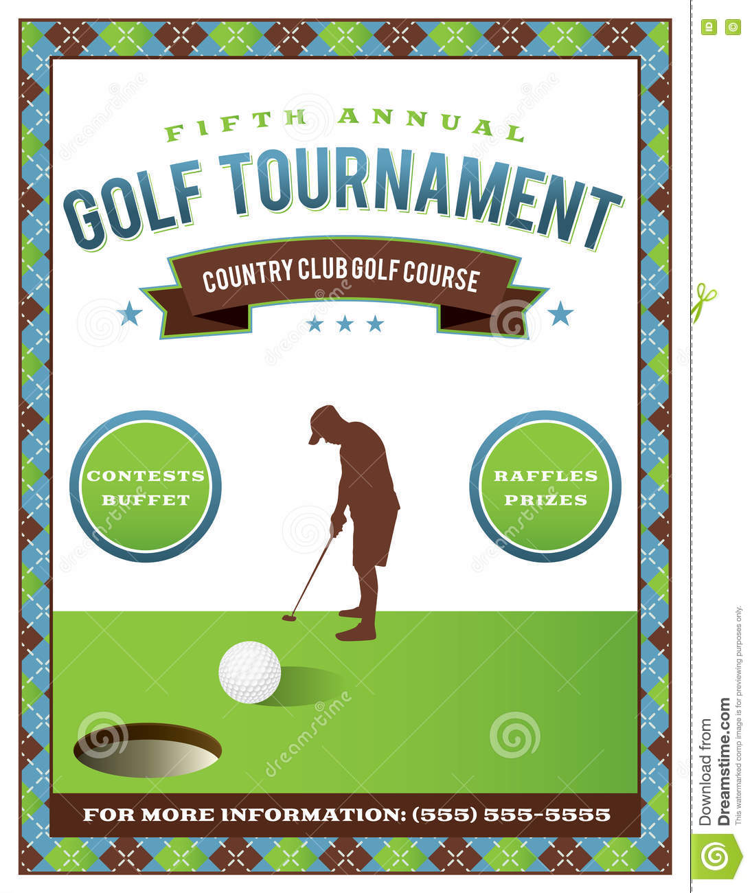 golf tournament flyer template stock vector illustration of event