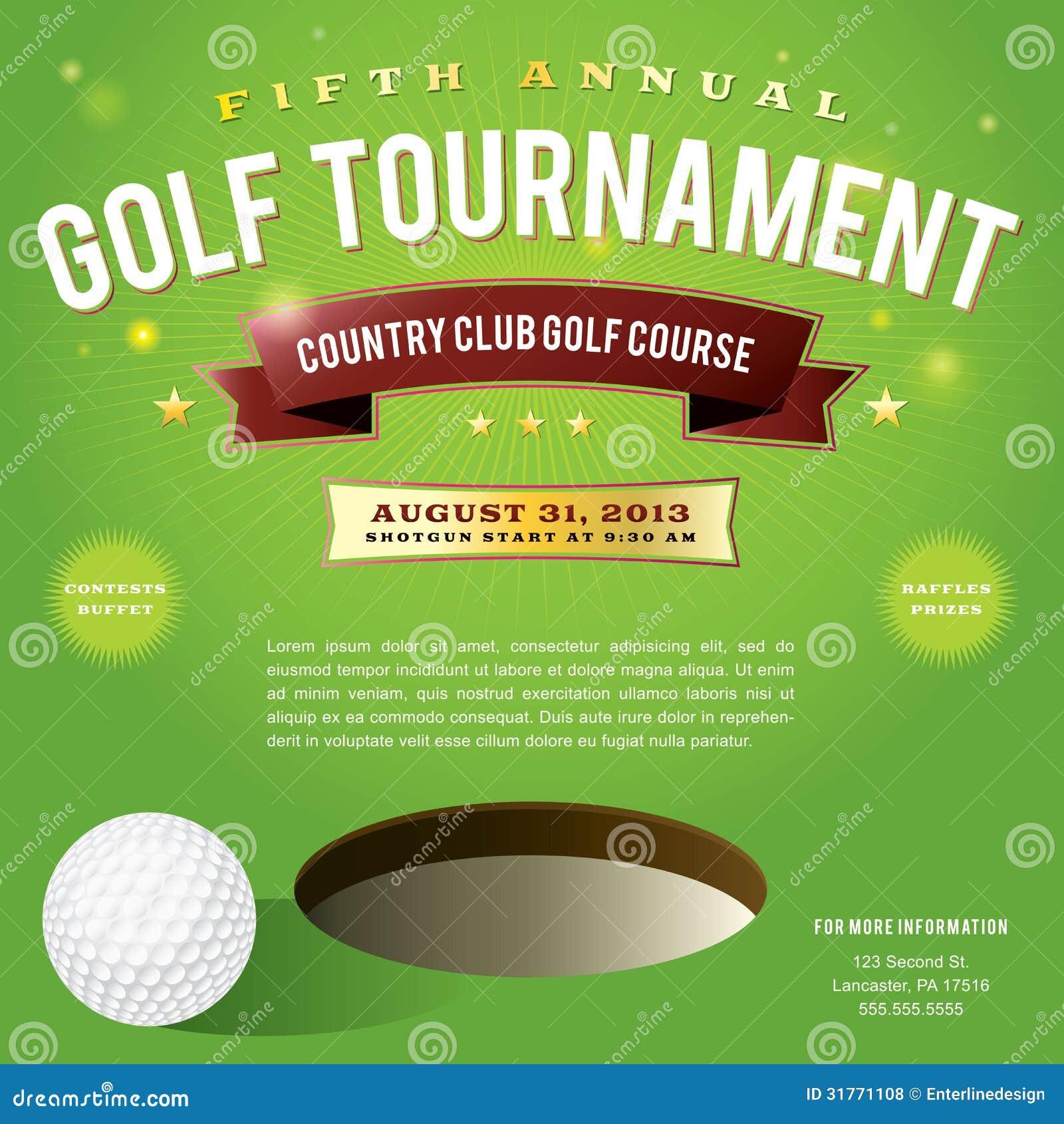 golf tournament invitation design royalty free stock photos image 31771108. Black Bedroom Furniture Sets. Home Design Ideas