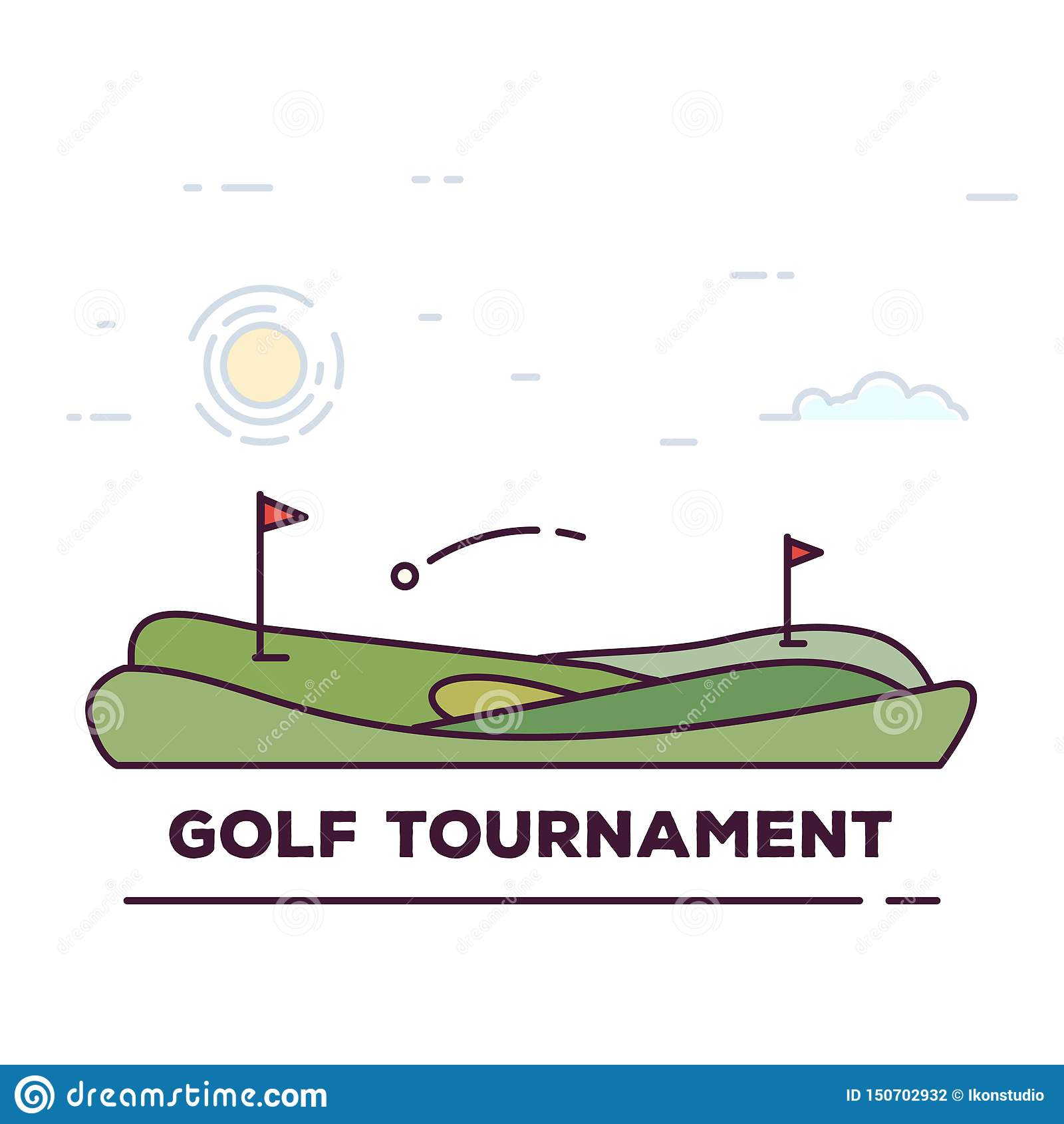 Golf tournament line banner