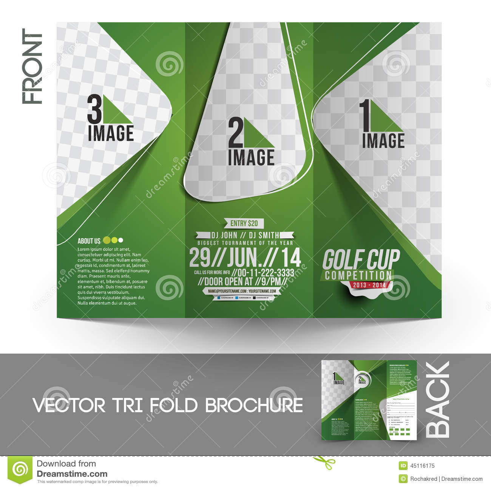 Golf Tournament Tri Fold Brochure