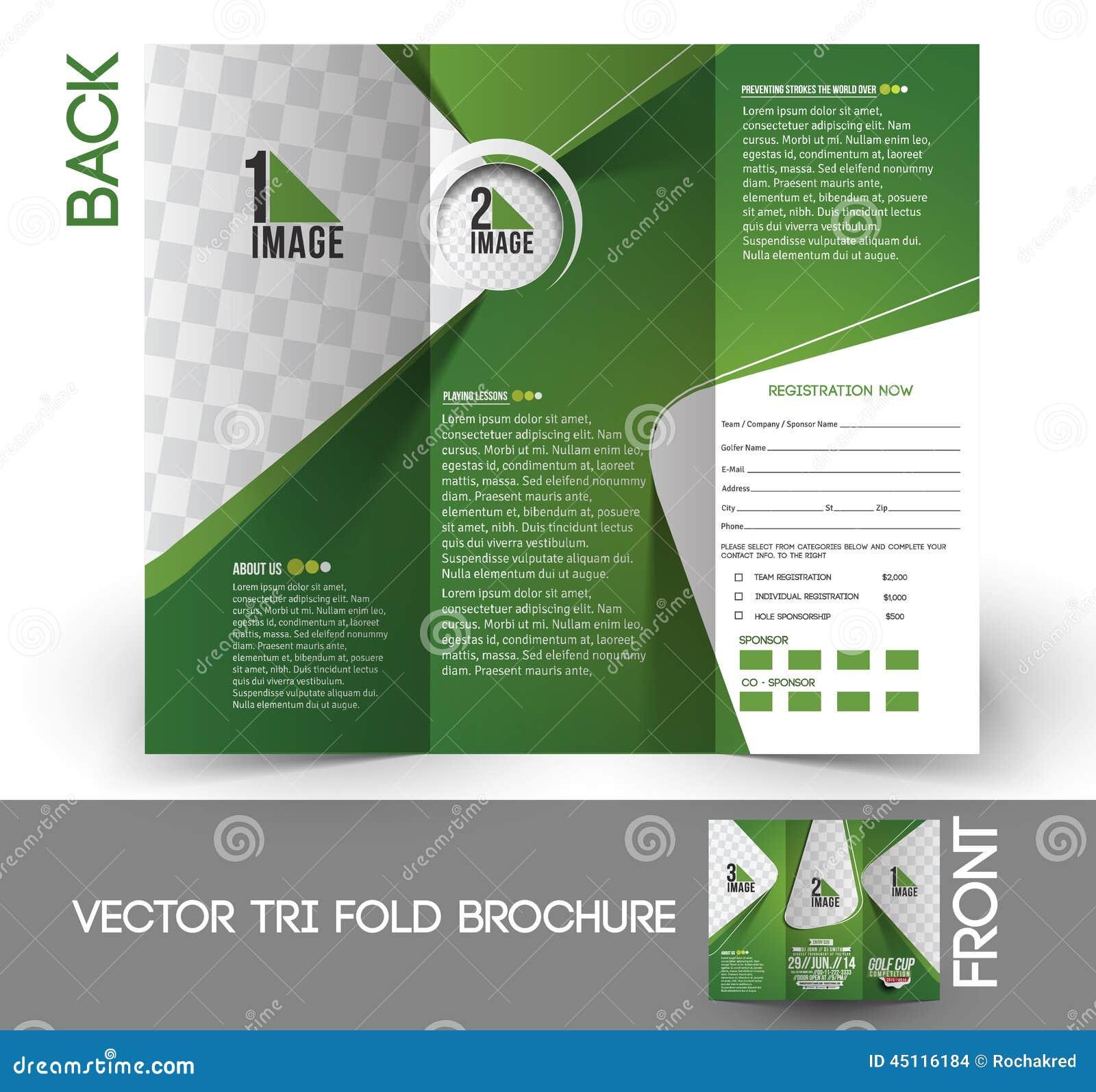 Golf Tournament Brochure Templates Pasoevolistco - Golf brochure template