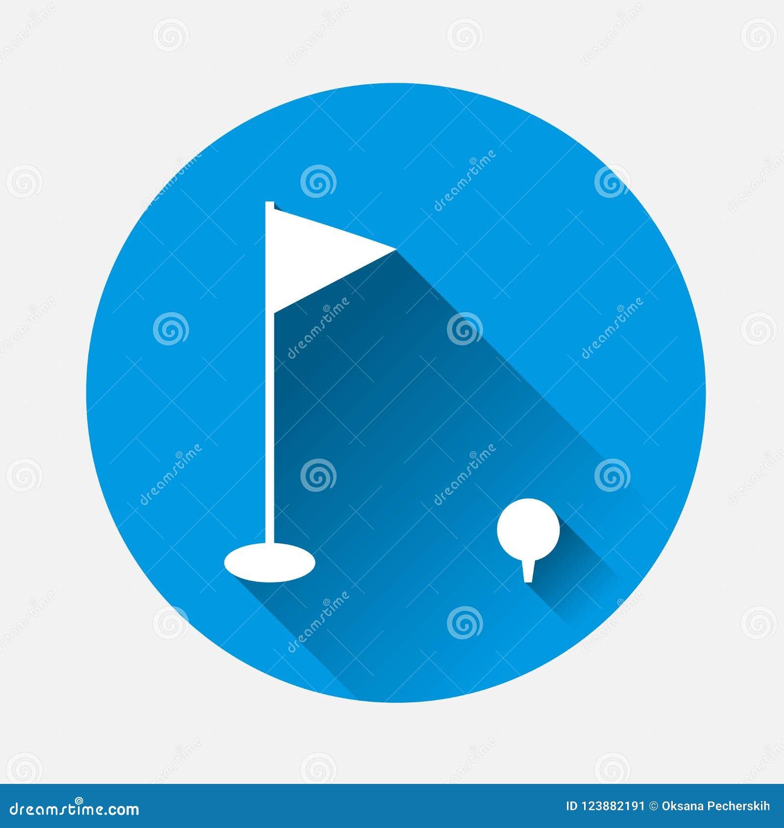 Golf Vector Image Sports Symbol On Blue Background Flat Image