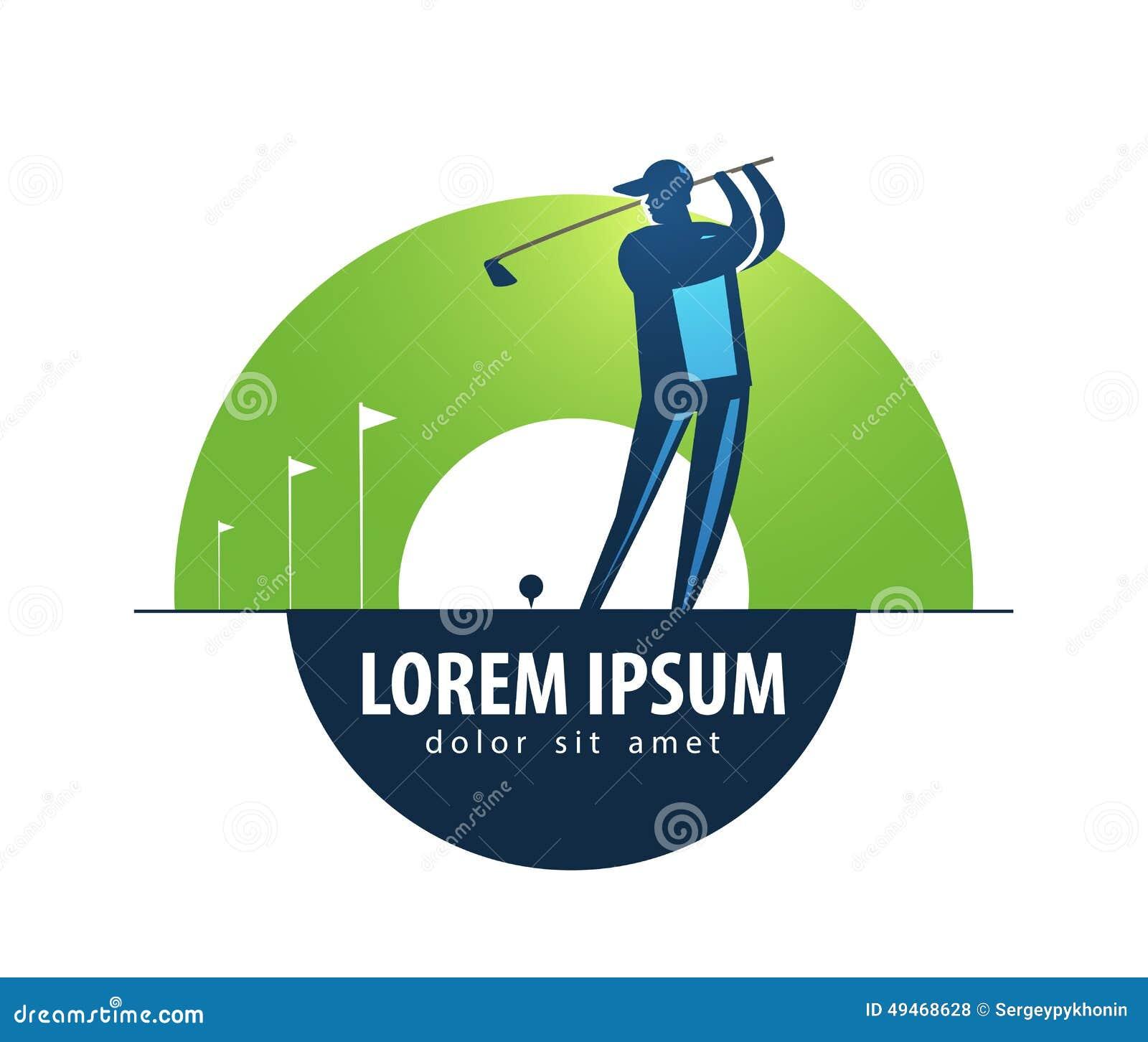 golf vector logo design template sports or game stock