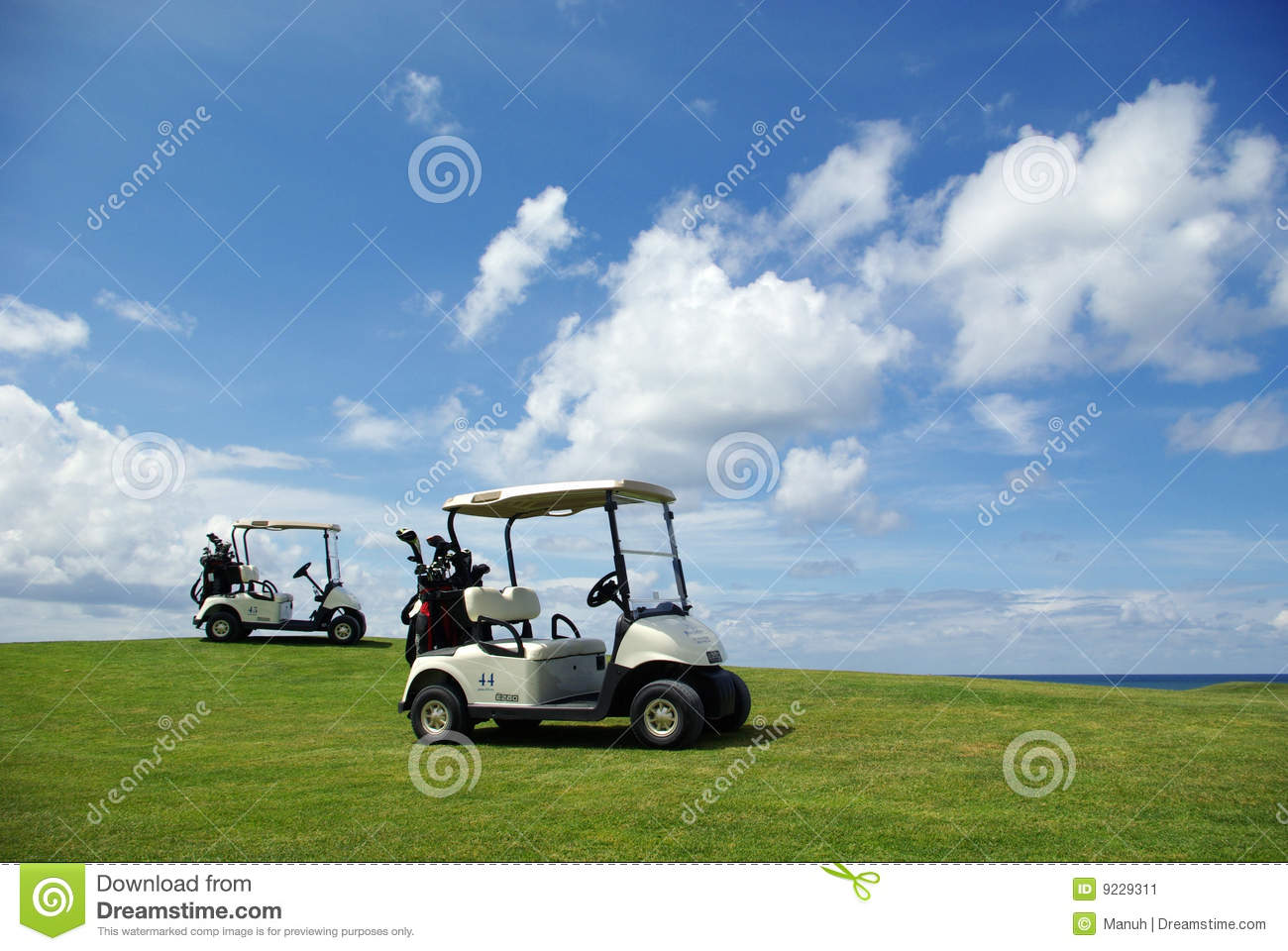 Golf Wallpaper Stock Image Image Of Blue Play Golf 9229311