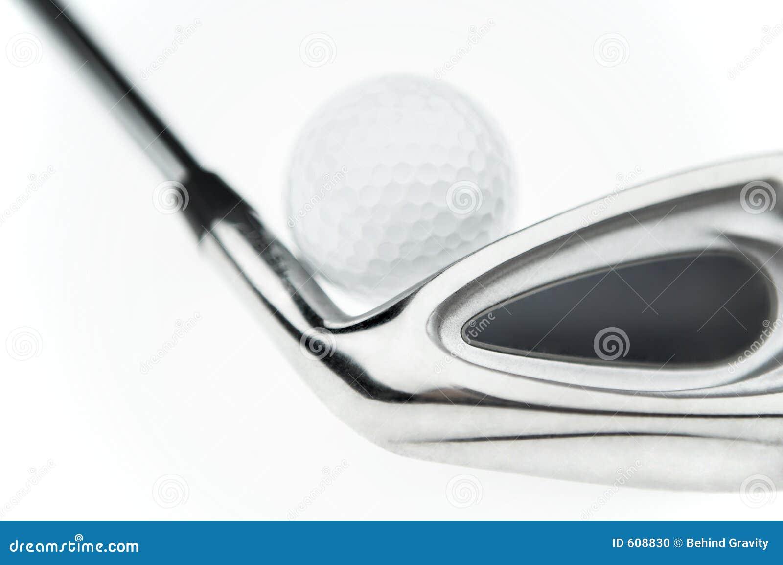Golfbal & club