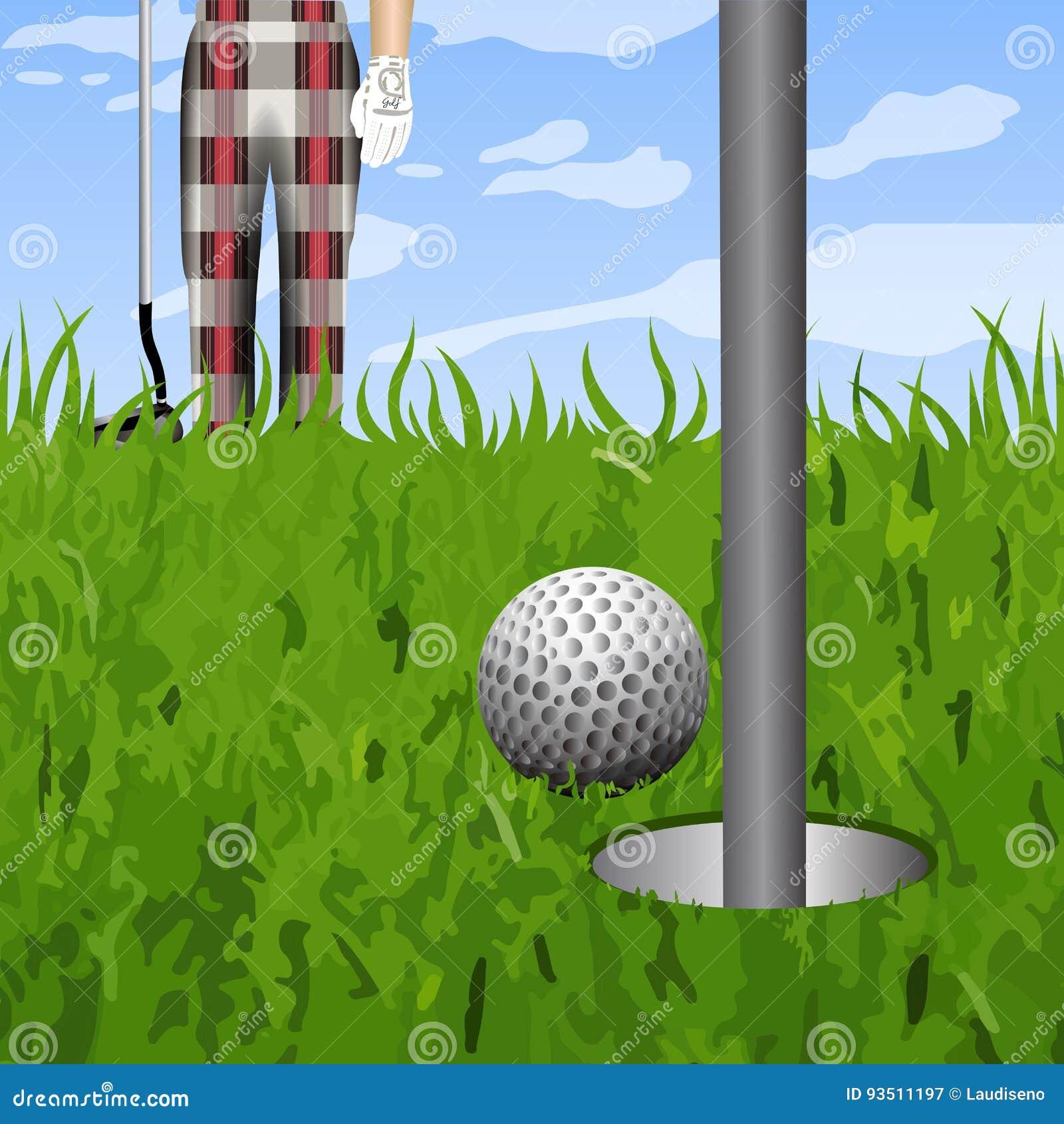 Golfbal en een gat