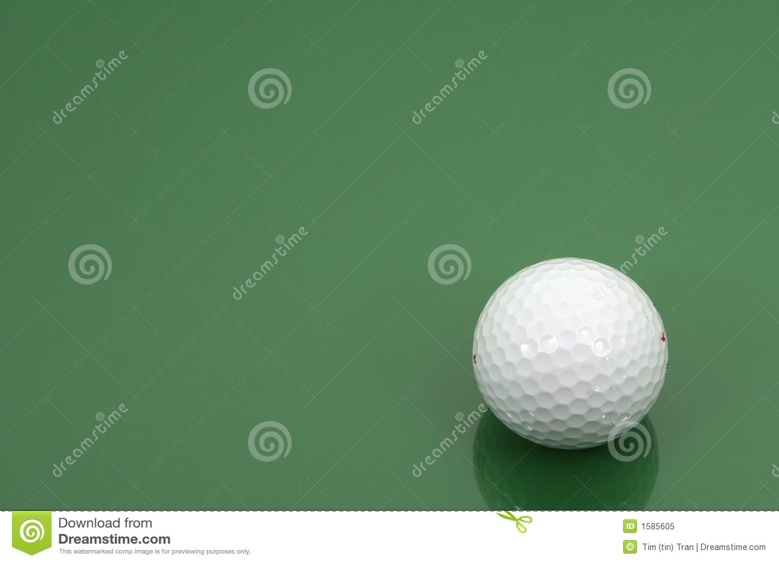 Golfbal (horizontaal frame)