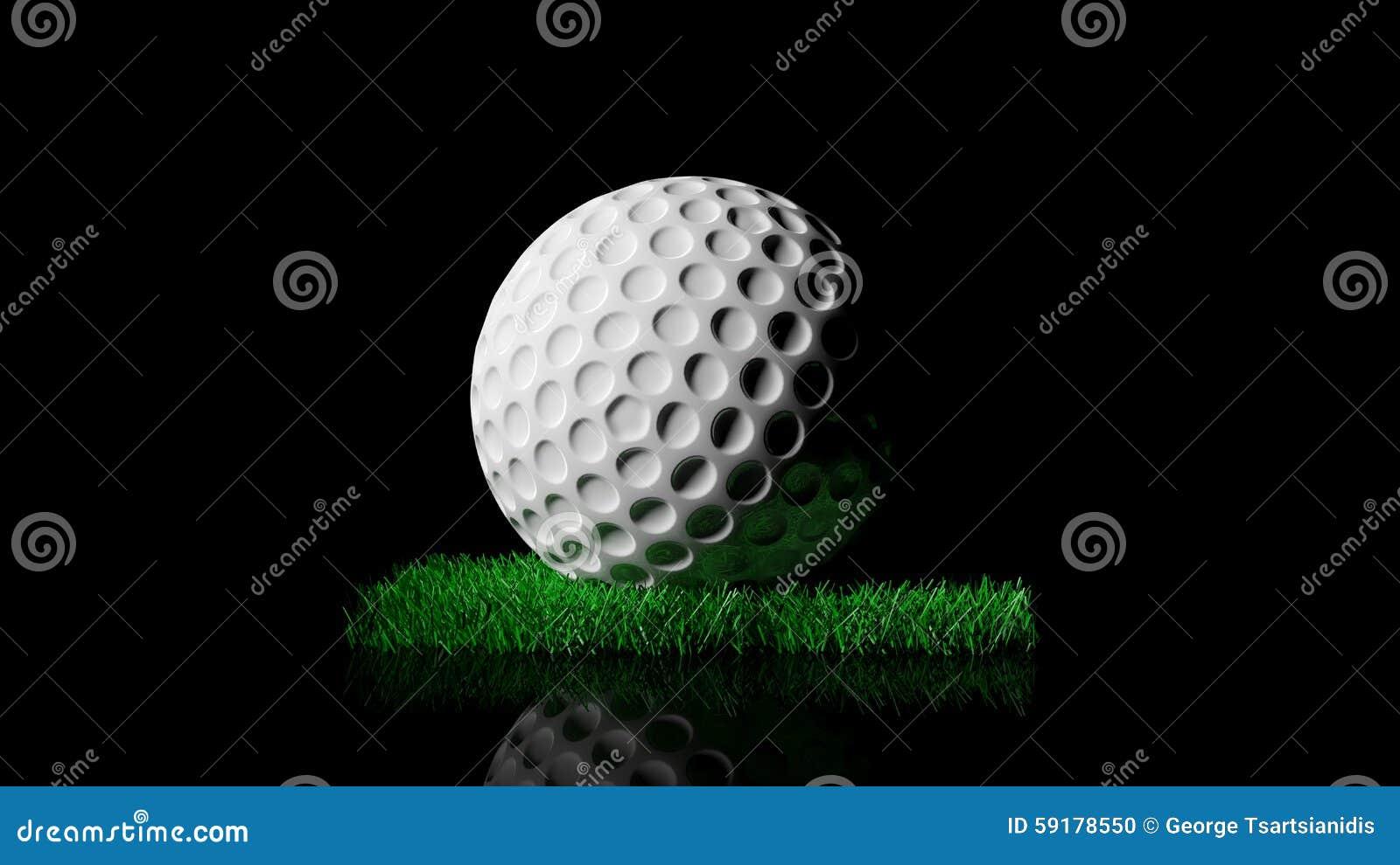 Golfbal op groen grasflard