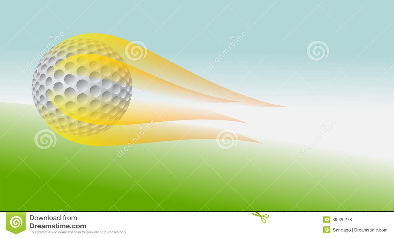 Golfball auf Feuer